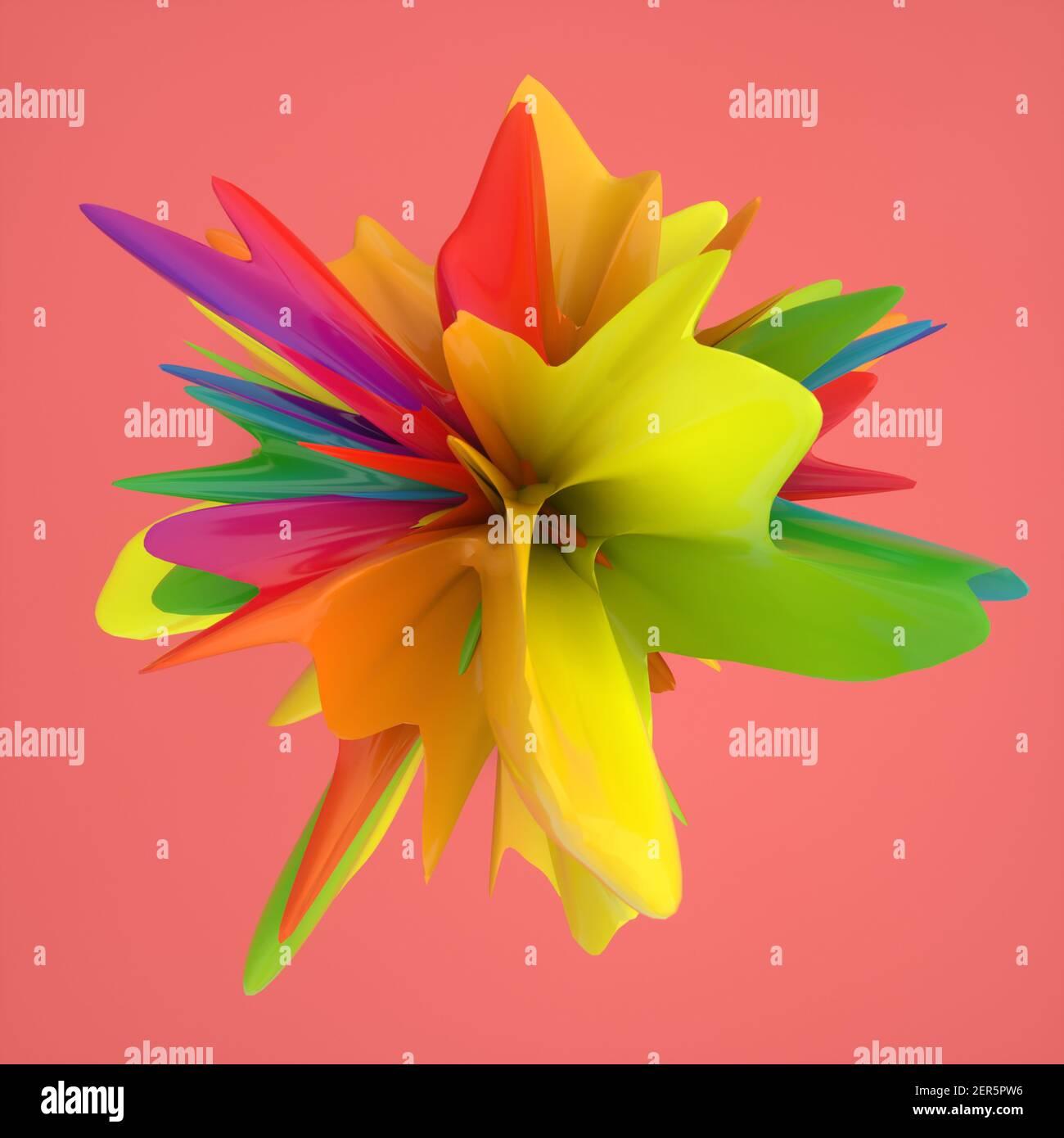 3D rendering. Topografía abstractas y colores Foto de stock