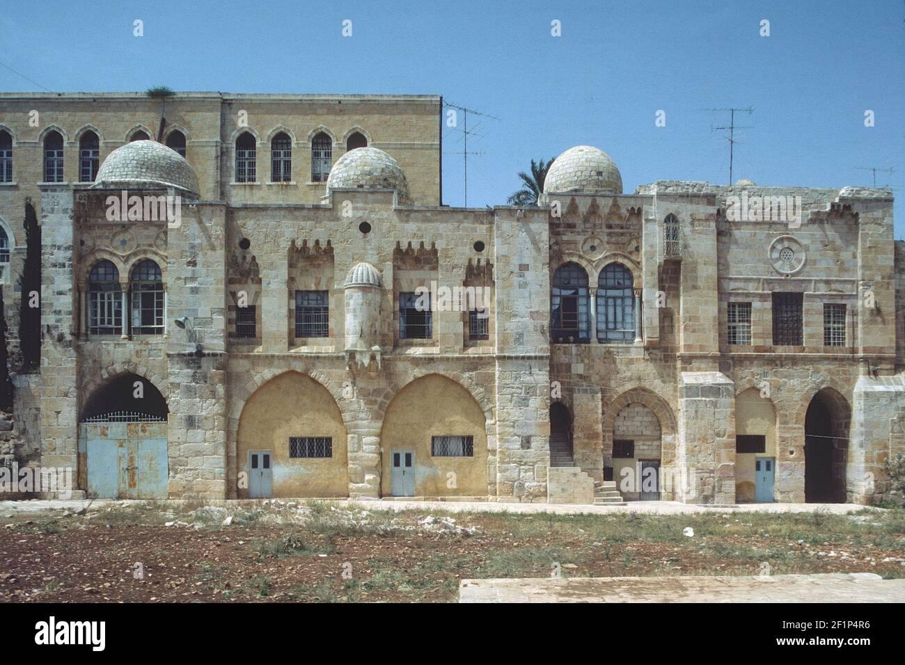 Madrasa al-is'ardiyya, Haram al-Sharif, Jerusalén, Palestina Foto de stock