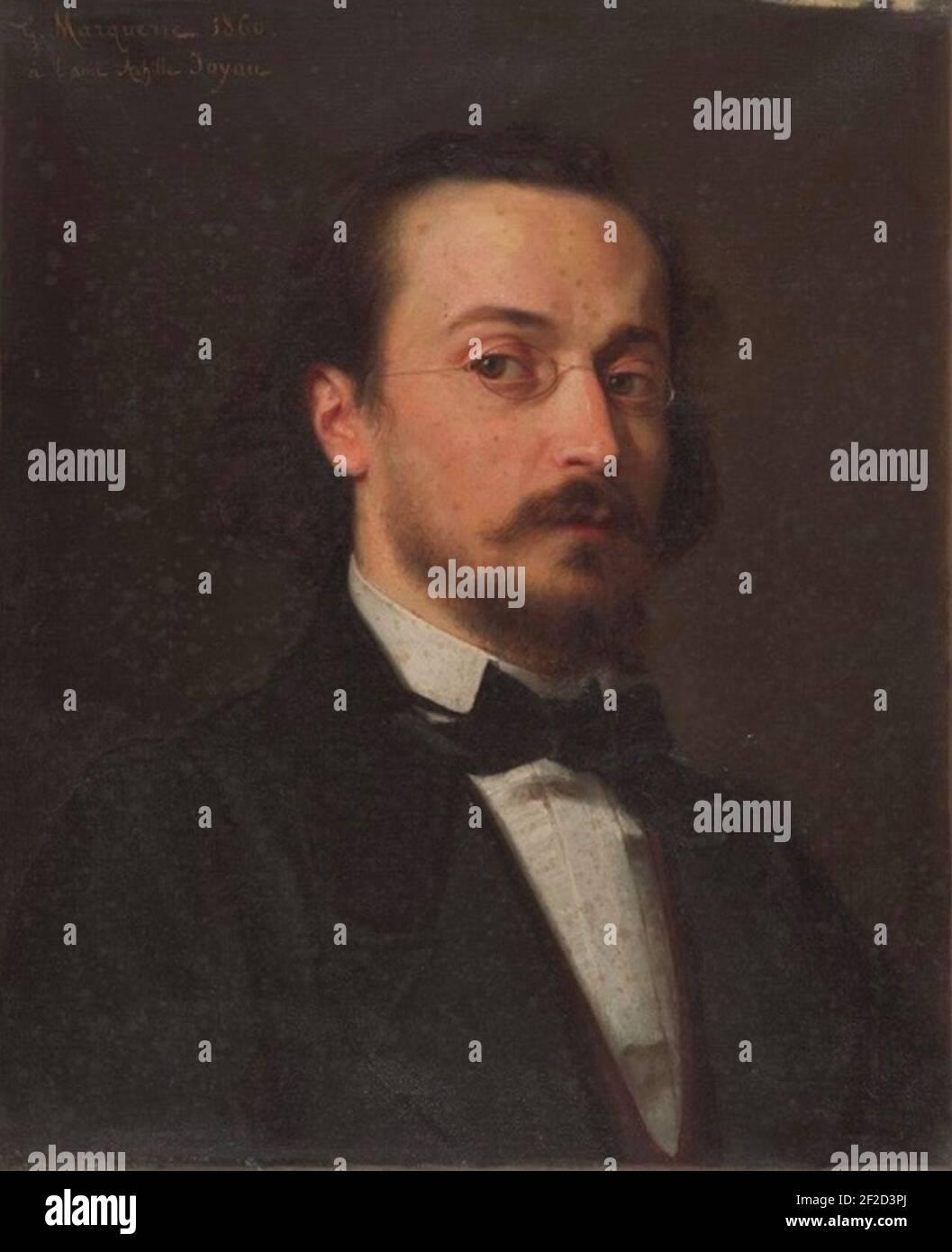 Retrato de l'architecte Achille Joyau. Foto de stock