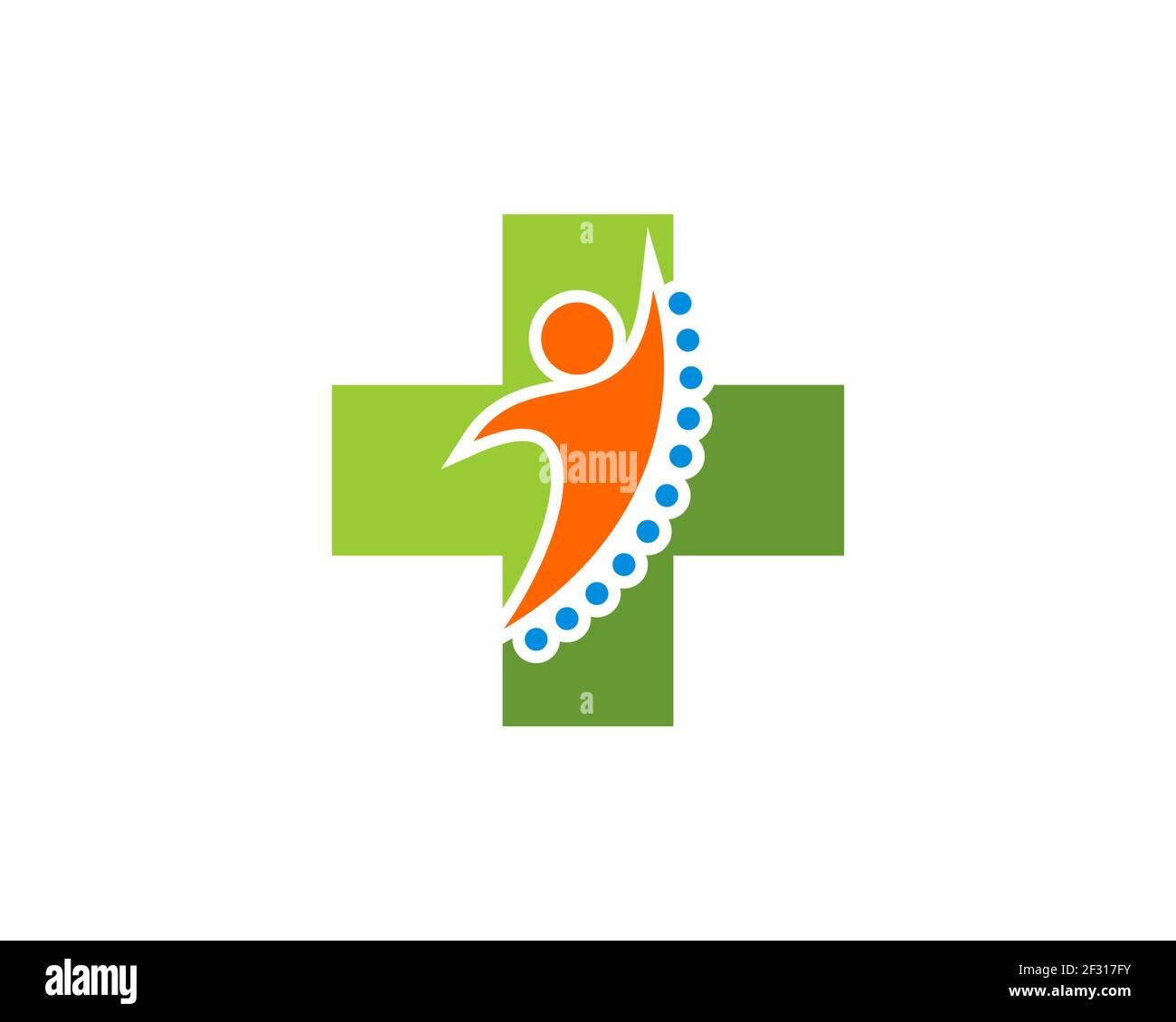 Salud médica cruzada con personas sanas salto Foto de stock