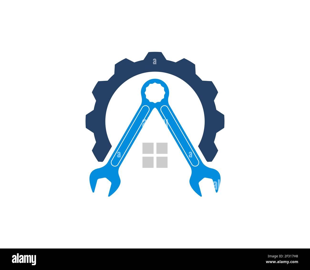 Reparar el engranaje con el alojamiento de la llave en el interior Foto de stock