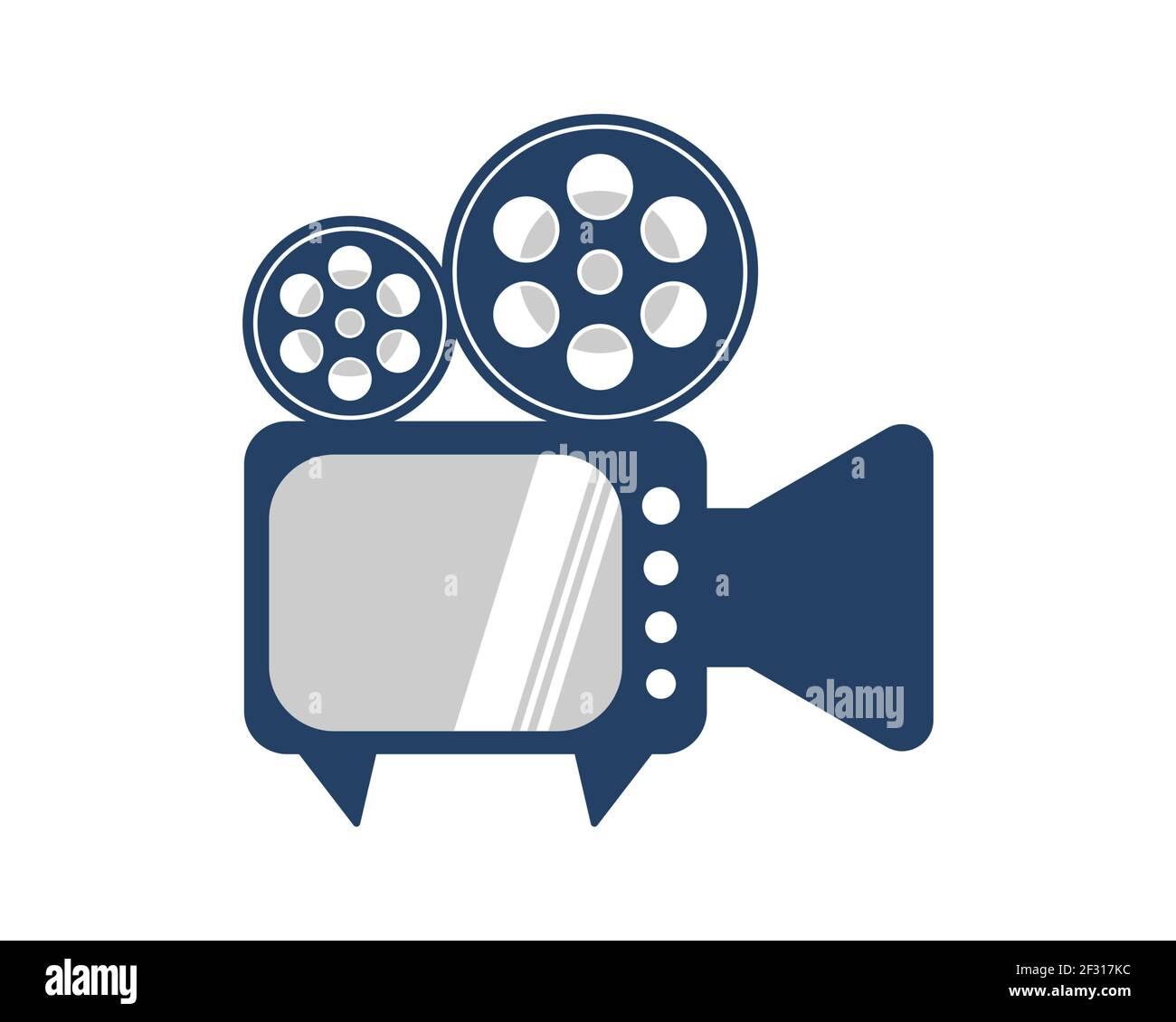 Combinación de televisión con grabadora de vídeo Foto de stock