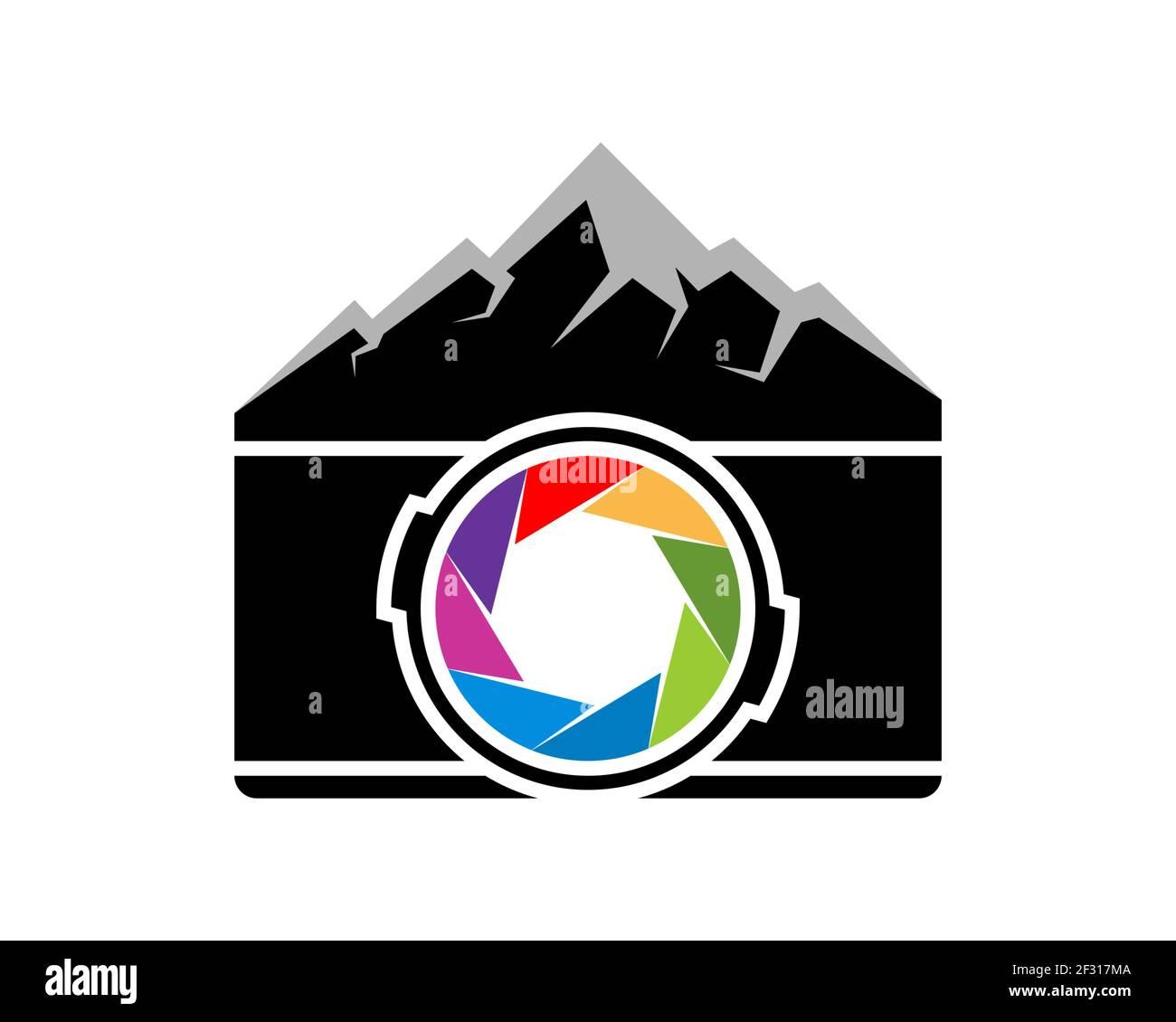 Cámara combinada con montaña Foto de stock