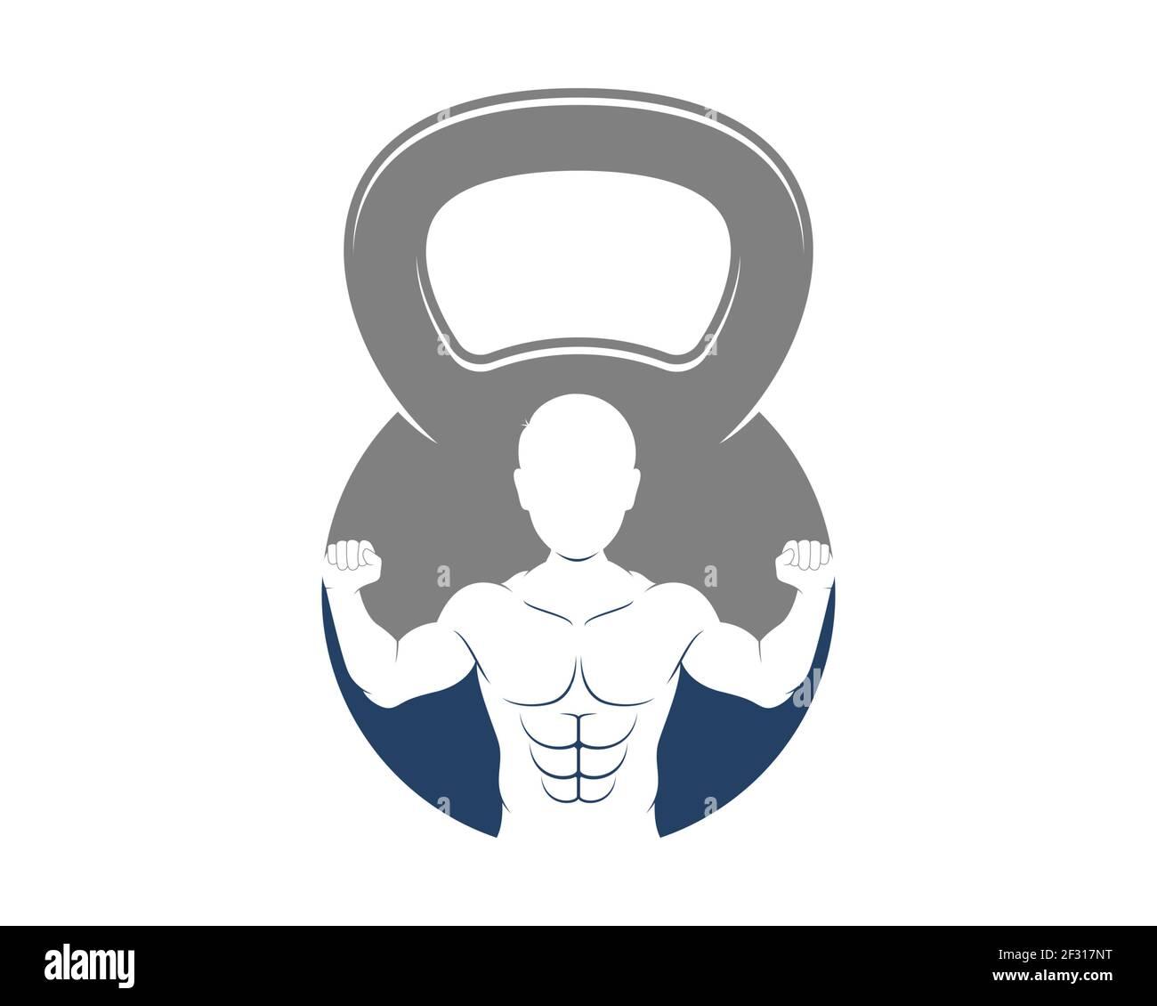 Hombre fuerte dentro de la campana de la caldera Foto de stock