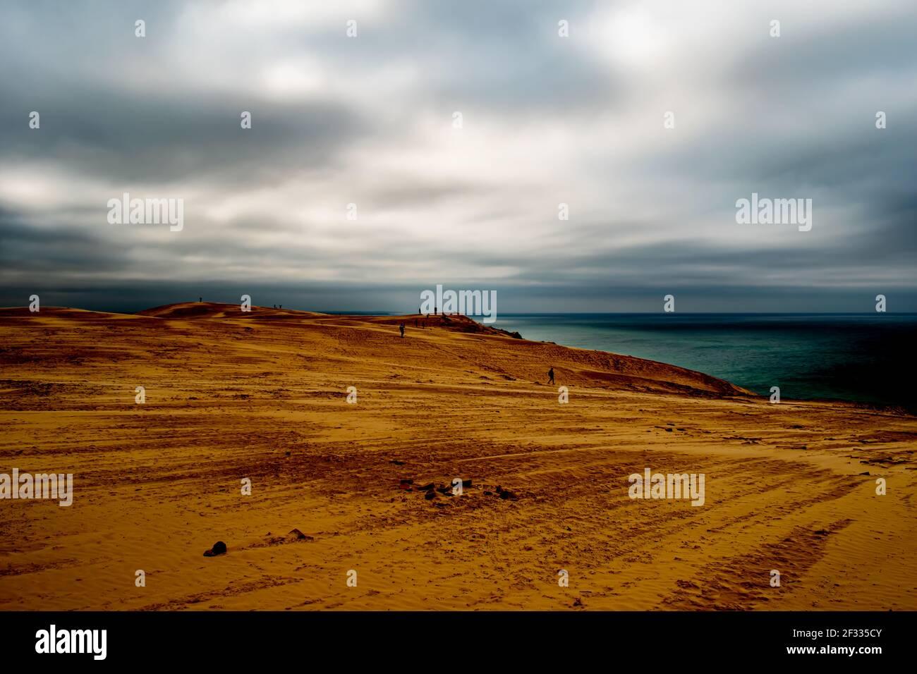Costa de arena de Rubjerg Knude, Dinamarca, costa del Mar del Norte Foto de stock