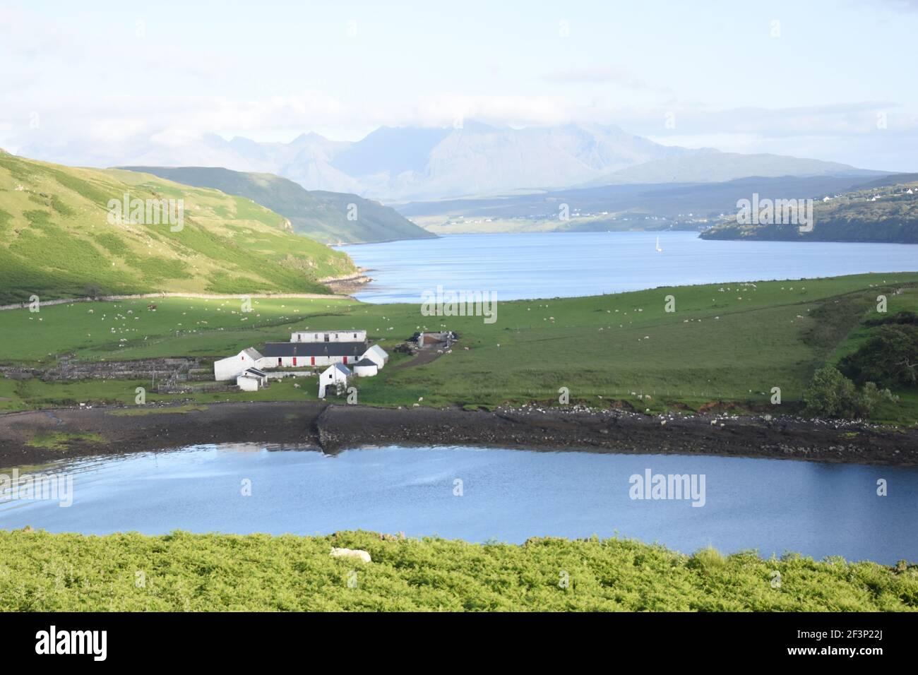 Granja de Gesto, Struan, Isla de Skye Foto de stock