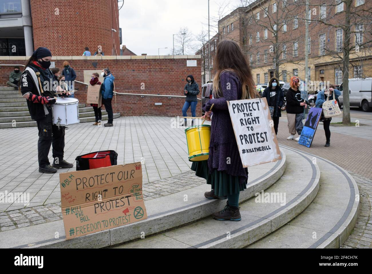 Camine por la Libertad en protesta contra el proyecto de ley de policía, crimen, sentencia y tribunales, que restringirá el derecho democrático a la protesta pacífica. Esto era una C Foto de stock