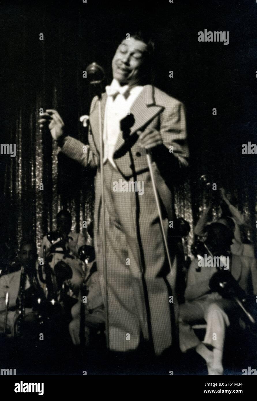 CAB Calloway, cantante de jazz estadounidense y líder de banda Foto de stock