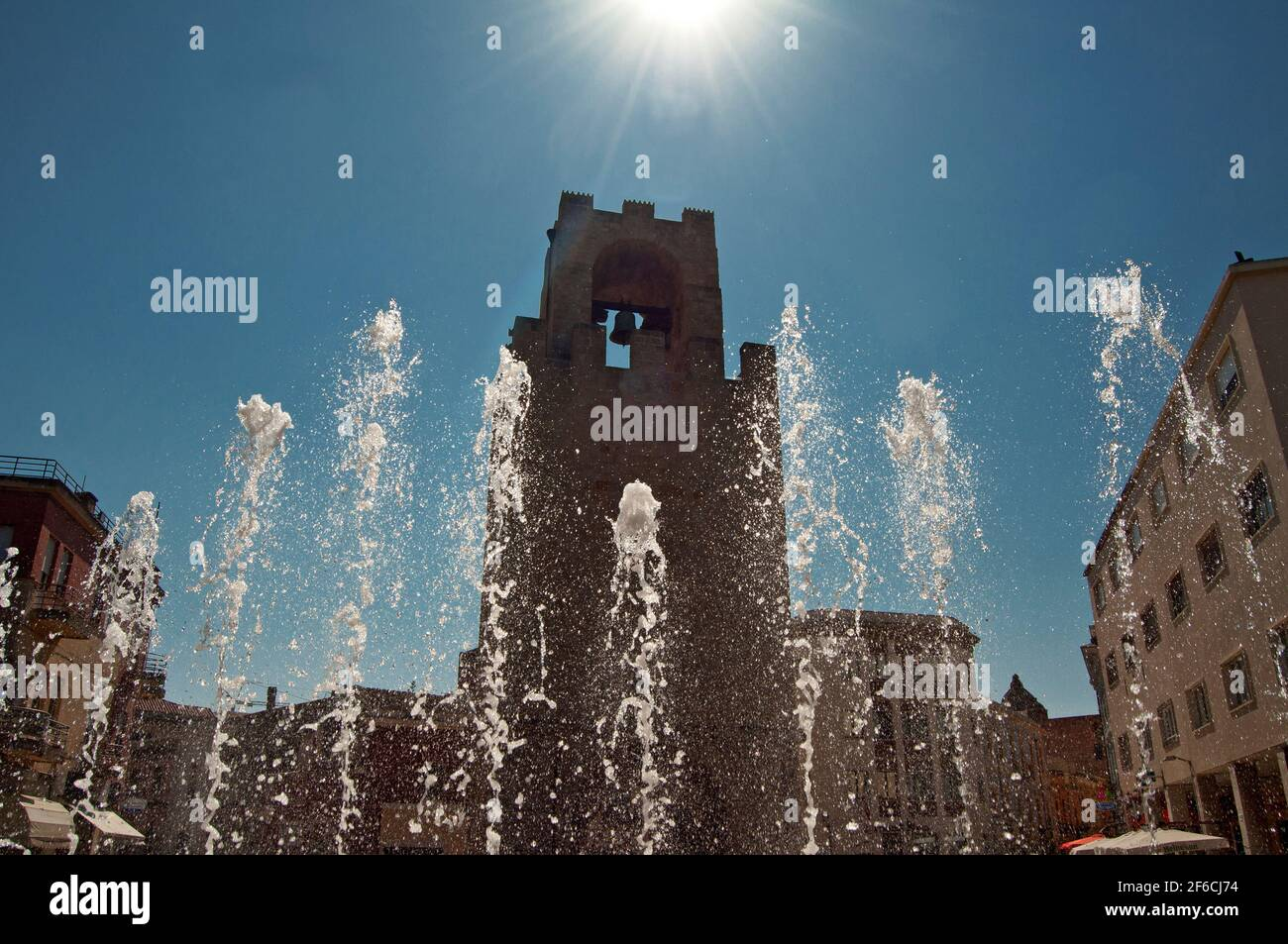 Torre San Cristoforo, Oristano, Cerdeña, Italia, Europa Foto de stock