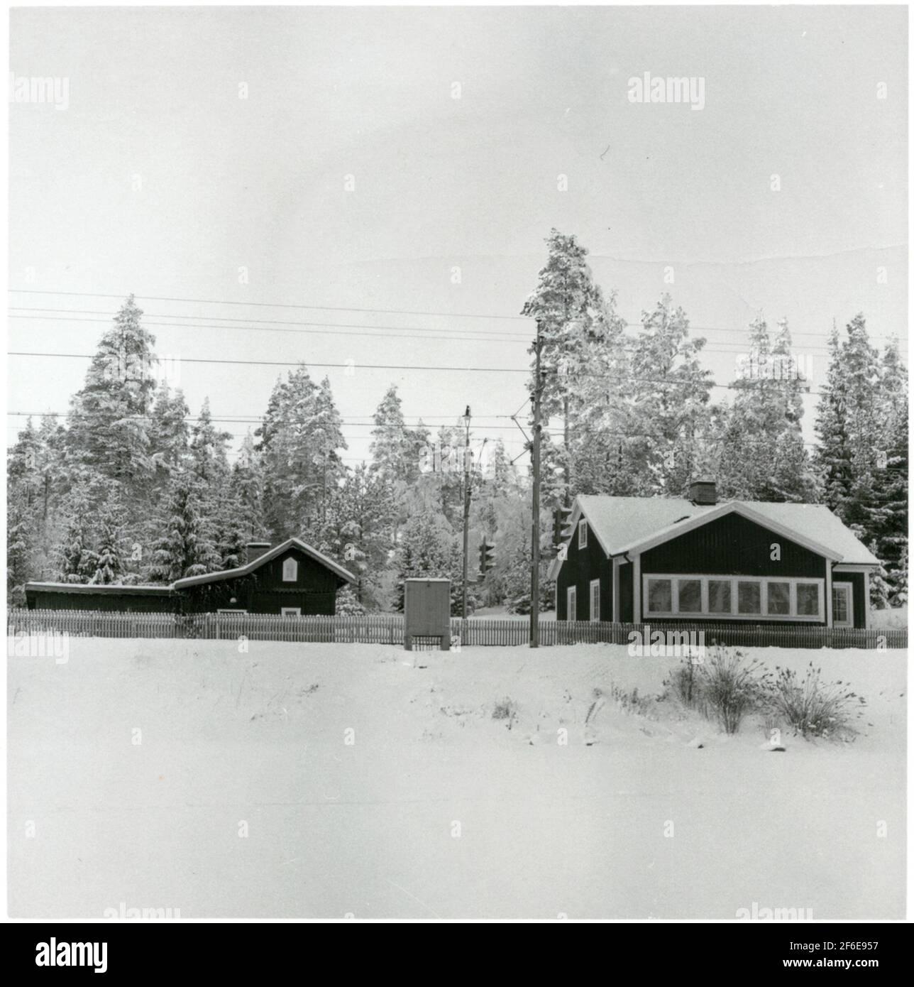 Bankeeper en Harsjön que fue utilizado como una granja recreativa de la empresa de tráfico Grängesberg - Oxelösund ferrocarriles, TGOJ. Foto de stock