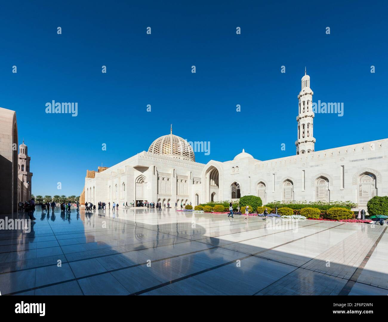 Gran Mezquita Sultan Qaboos, Muscat, Omán Foto de stock