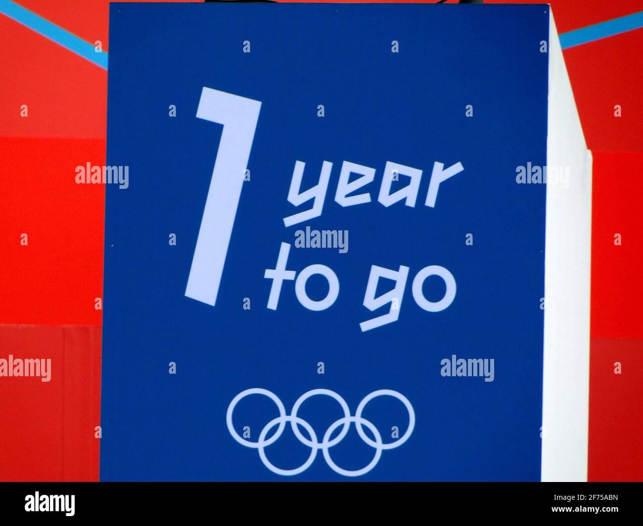 ¡una lágrima para ir! - Concierto en Trafalgar Square 1 año antes de los Juegos Olímpicos 2012, Londres, Reino Unido Foto de stock