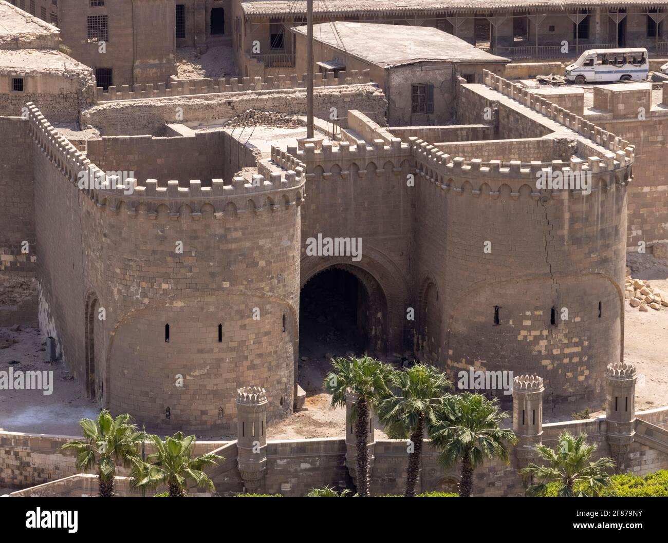 Bab al-Azab, ciudadela, el Cairo, Egipto Foto de stock