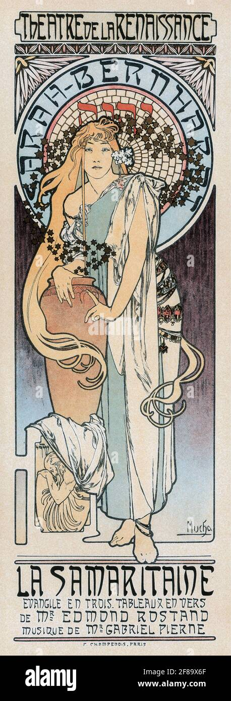 La Samaritaine (desde Les Maitres de L'Affiche) – Art Nouveau de Alphonse Mucha Foto de stock