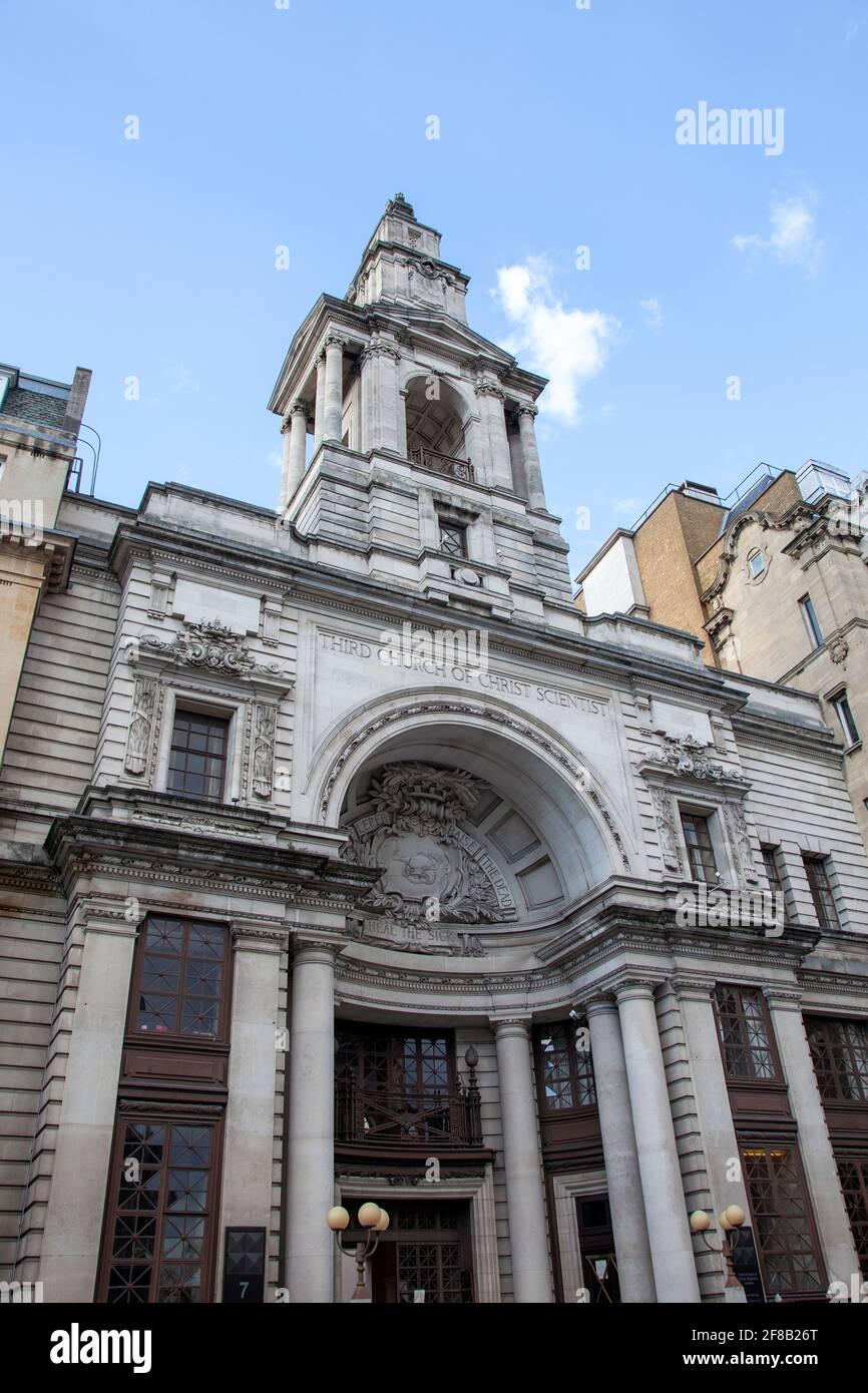 Tercera Iglesia de Cristo Científico en Londres Mayfair, W1, Reino Unido Foto de stock