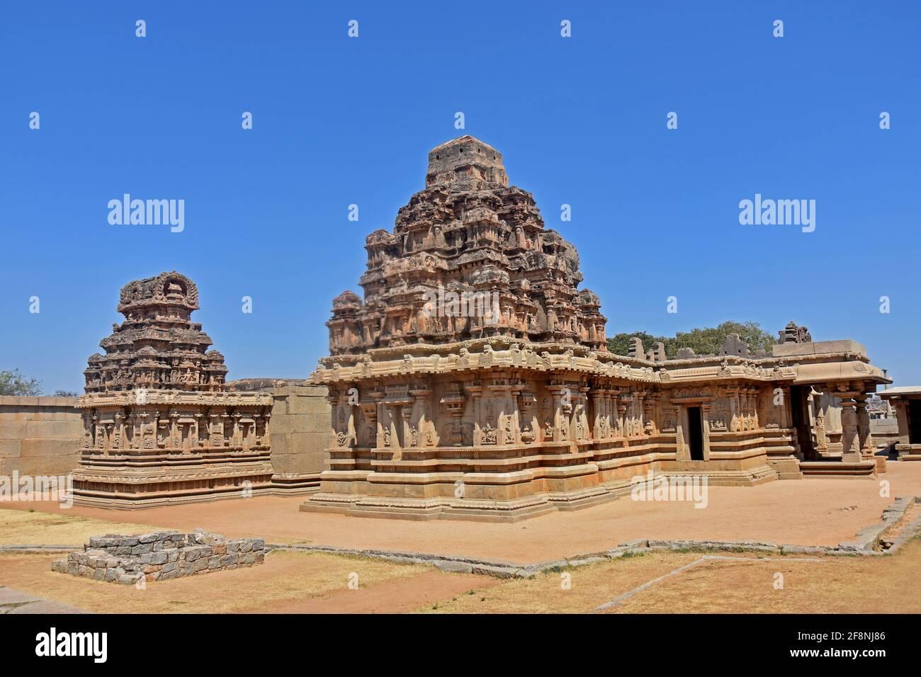 Hazara Rama Templo mong las ruinas de Hampi del siglo 14th Imperio Vijayanagara en Hampi, Karnataka, India Patrimonio de la Humanidad de la Unesco Foto de stock