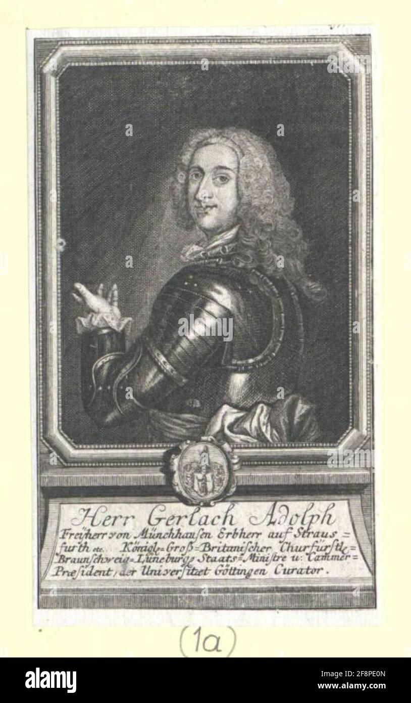 Münchhausen, Gerlach Adolf Freiherr von. Foto de stock
