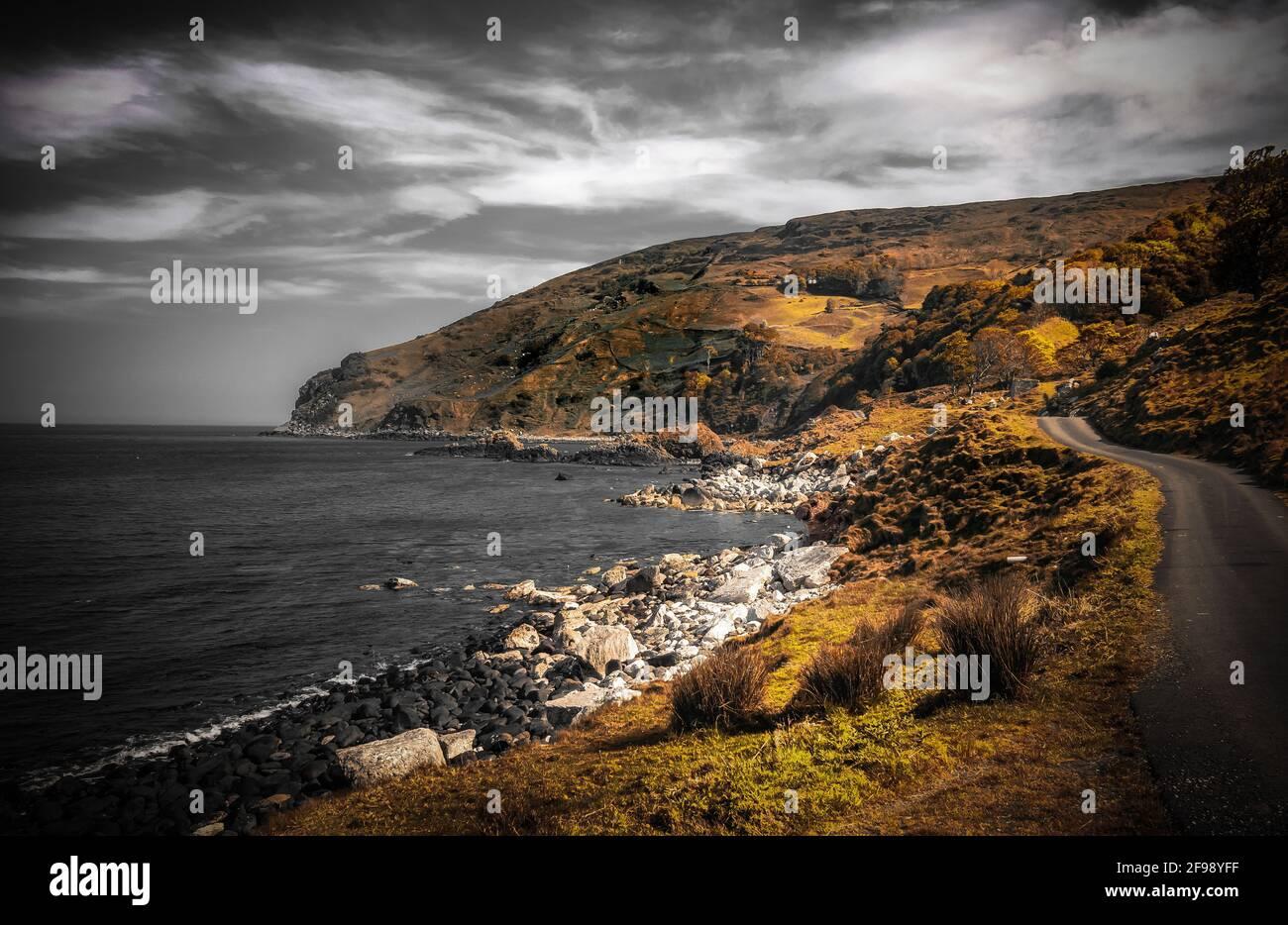 Murlough Bay en el norte de Irlanda - Fotografía Artística Foto de stock