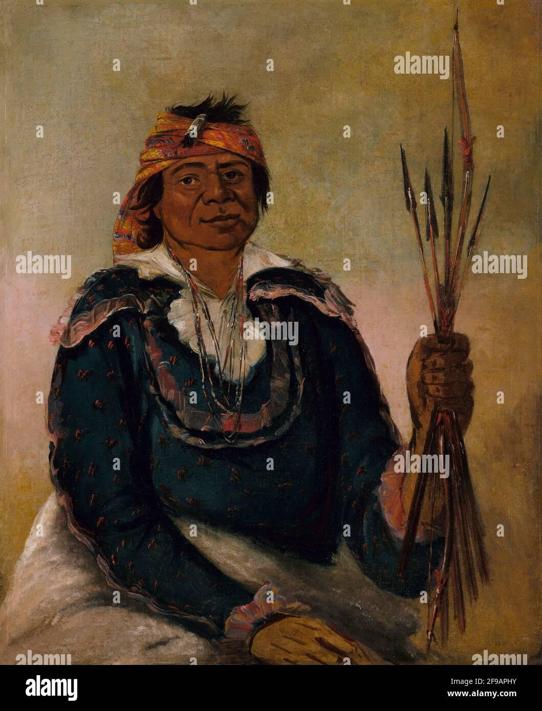 Ni-có-man, The Answer, Second Chief, 1830. Foto de stock