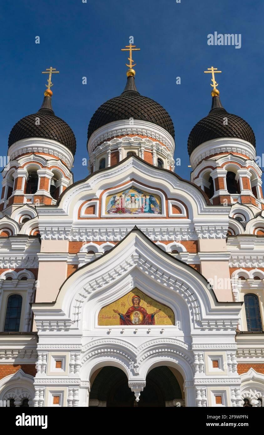 La Catedral de Alexander Nevsky Toompea Tallinn Estonia Foto de stock