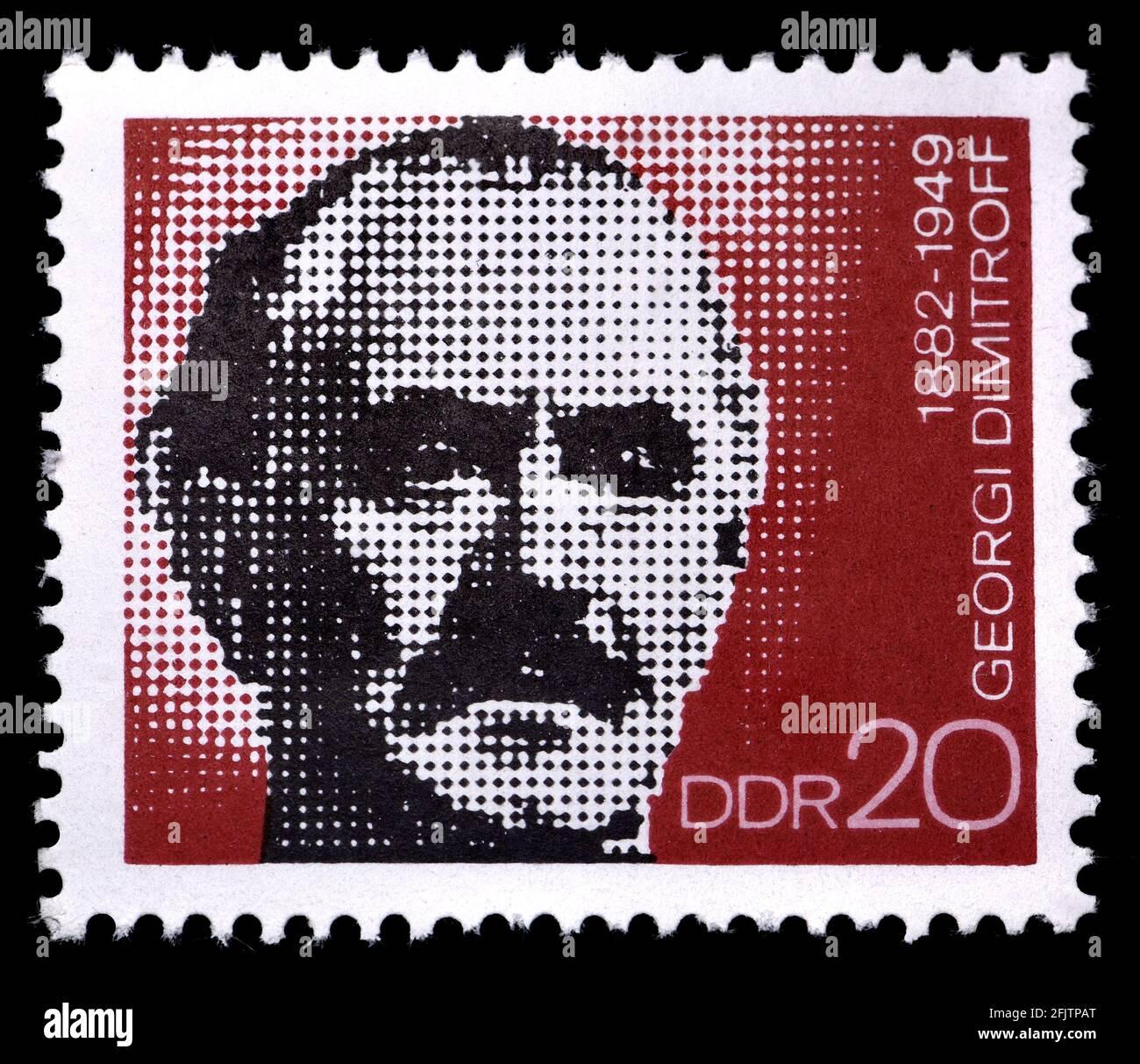 Sello postal de Alemania del Este (1972) : Georgi Dimitrov (1882-1949) Político comunista búlgaro - primer líder comunista de Bulgaria (1946 - 1949) Foto de stock