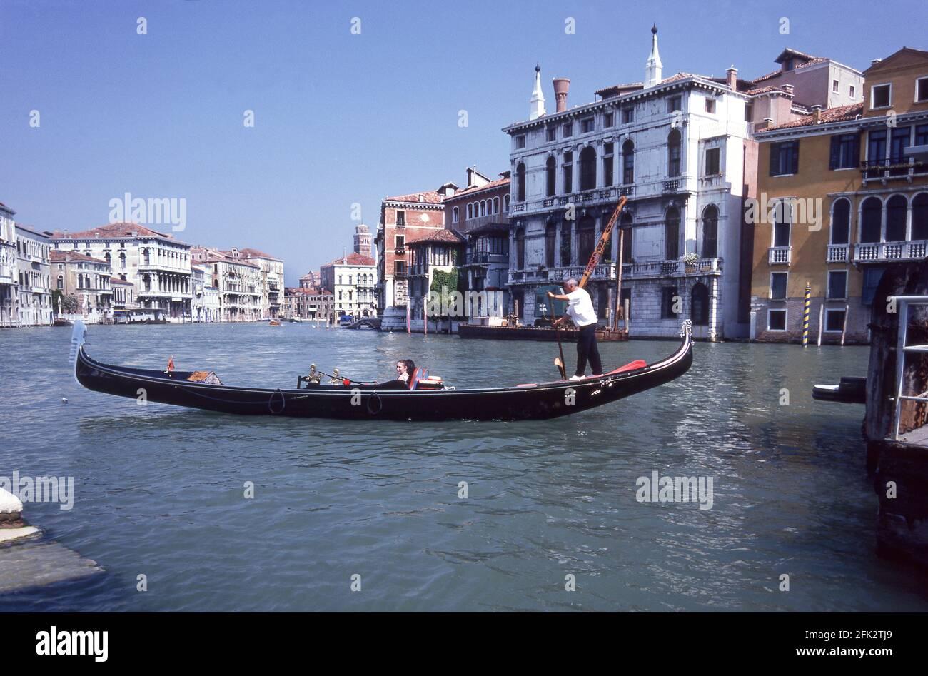 Góndola en el Gran Canal.Venecia.Italia. Foto de stock