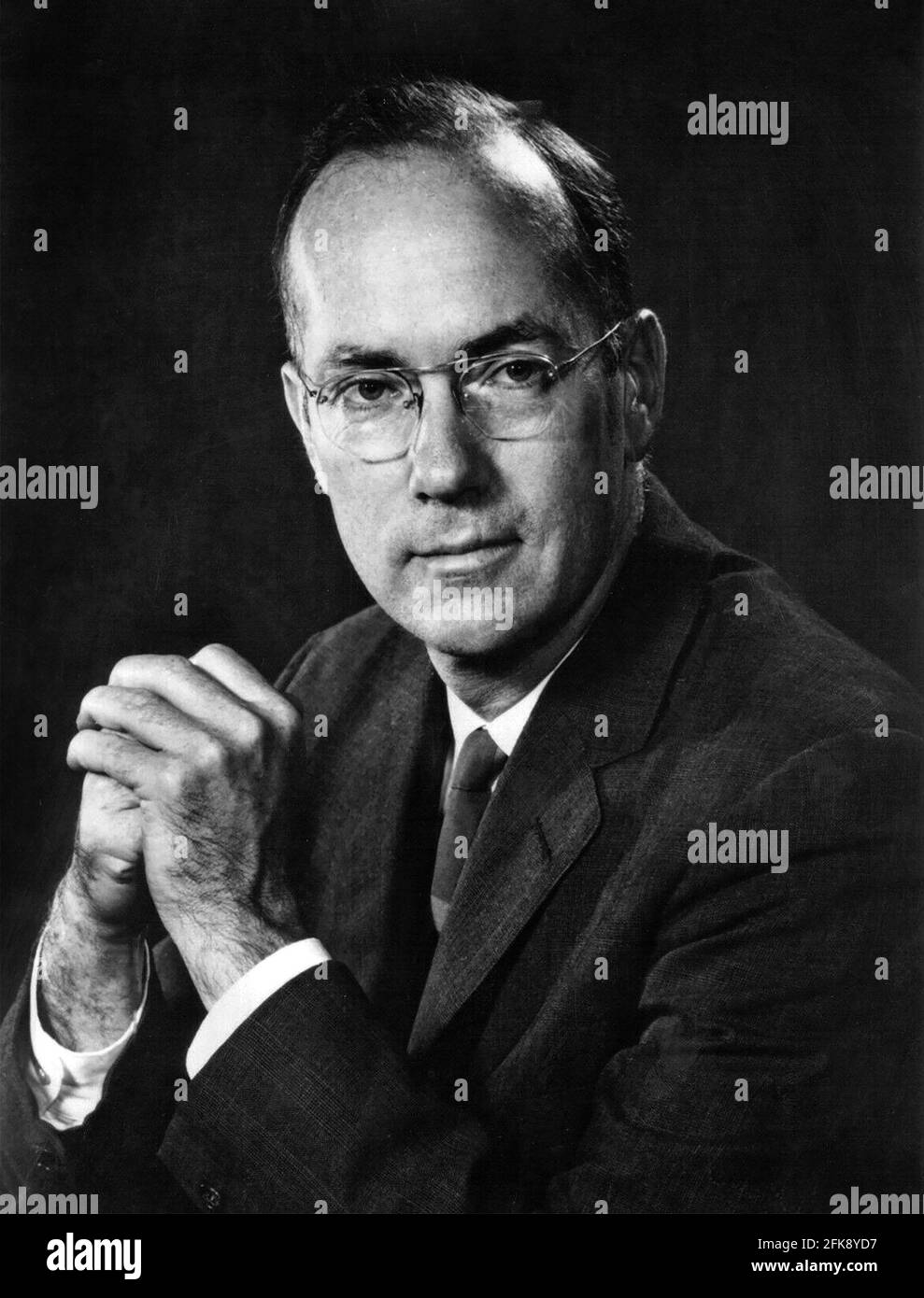 Charles Townes. Retrato del físico estadounidense, Charles Hard Townes (1915-2015) Foto de stock