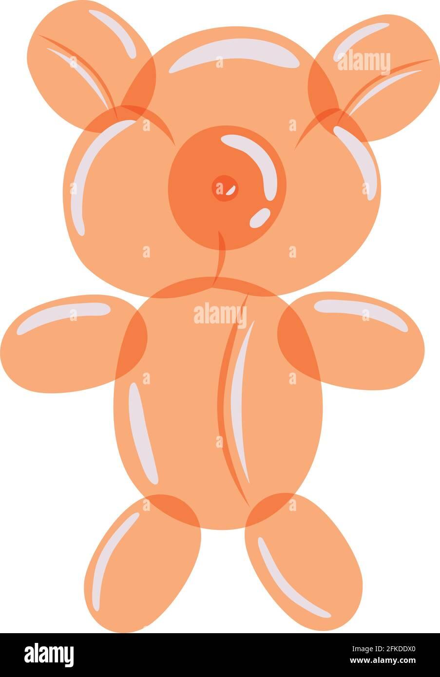 globo de oso naranja Ilustración del Vector