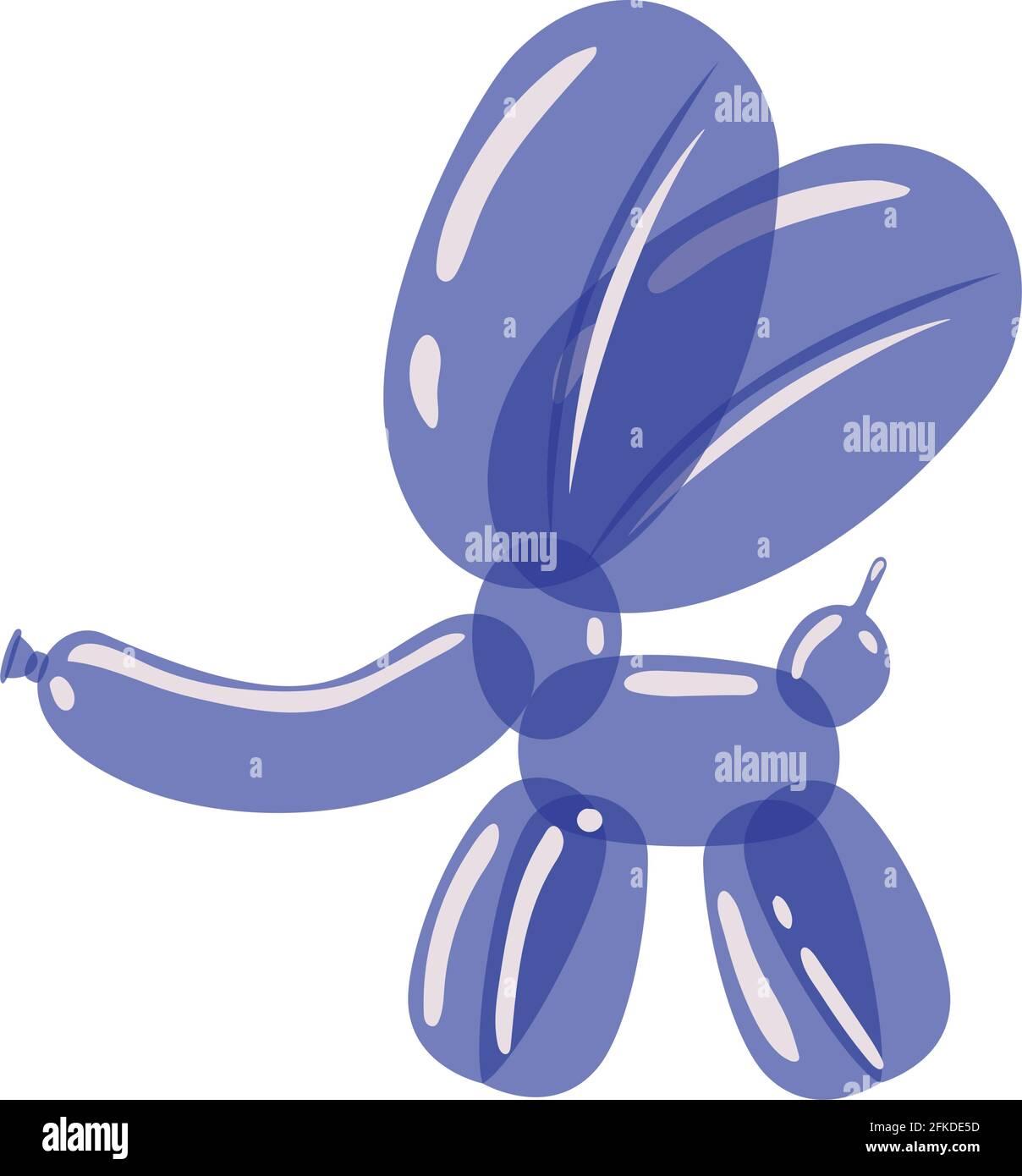 globo de elefante púrpura Ilustración del Vector