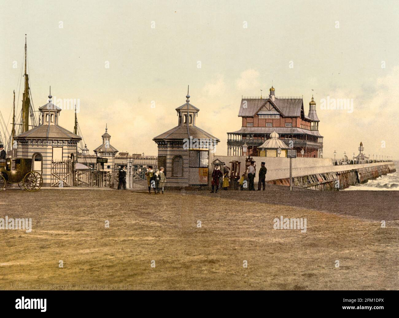 Muelle Lowestoft en Suffolk alrededor de 1890-1900 Foto de stock