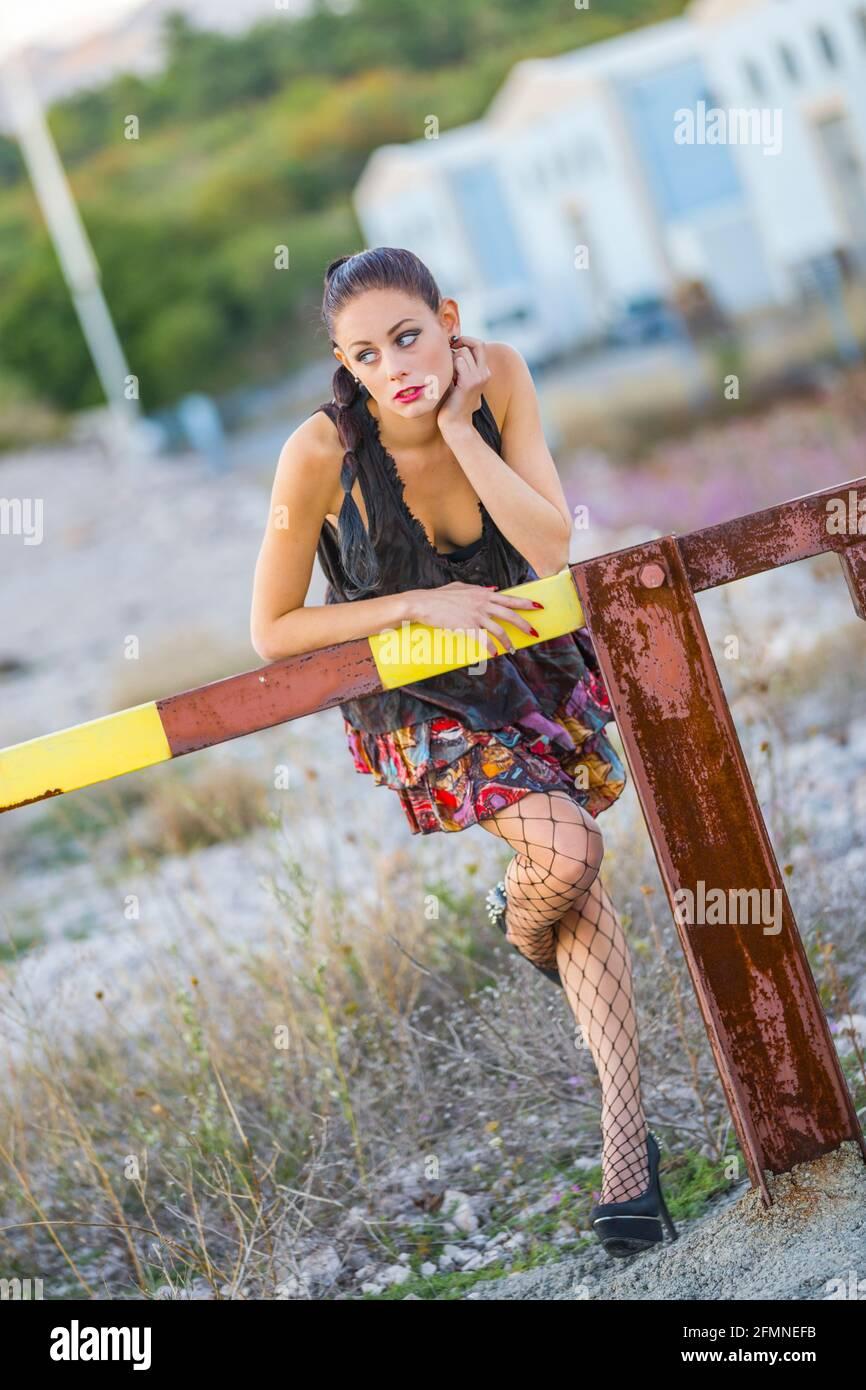 Adolescente adolescente aka sexy Foto de stock