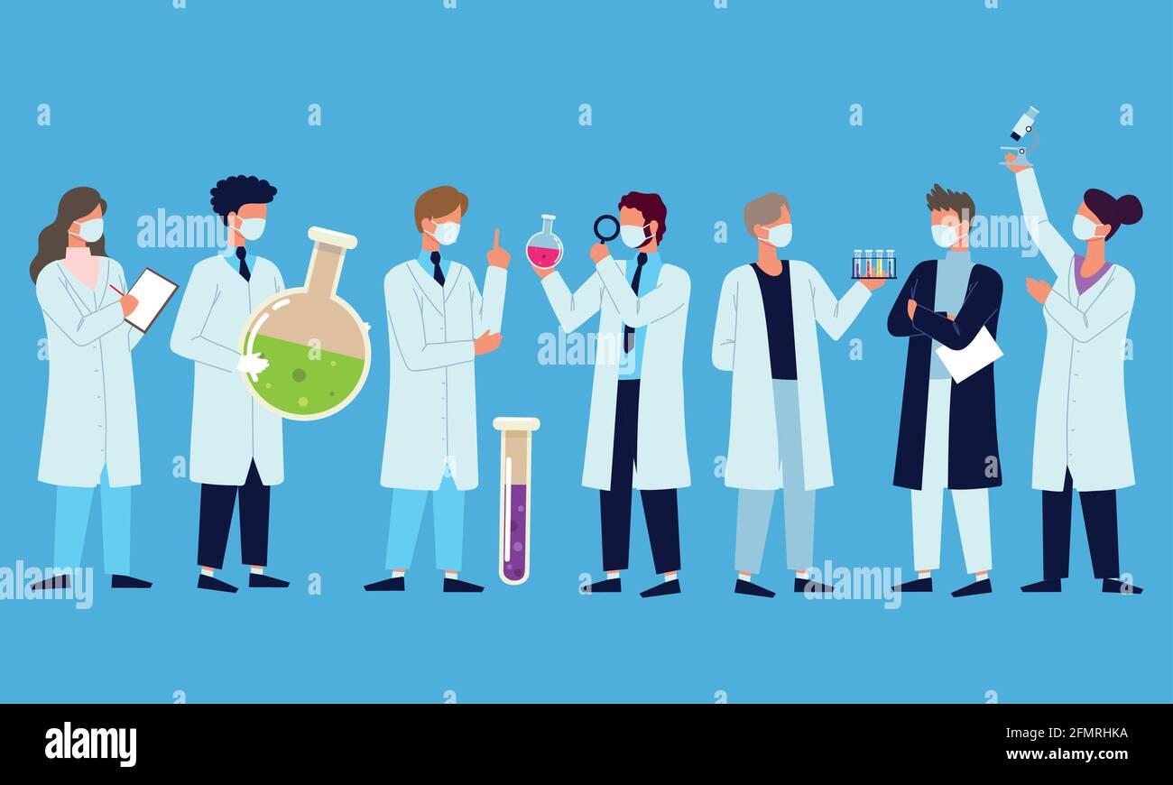 laboratorio del equipo médico Ilustración del Vector
