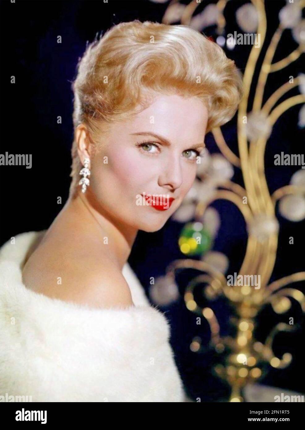 MARTHA HYER (1924-2014) actriz cinematográfica estadounidense en 1960 Foto de stock
