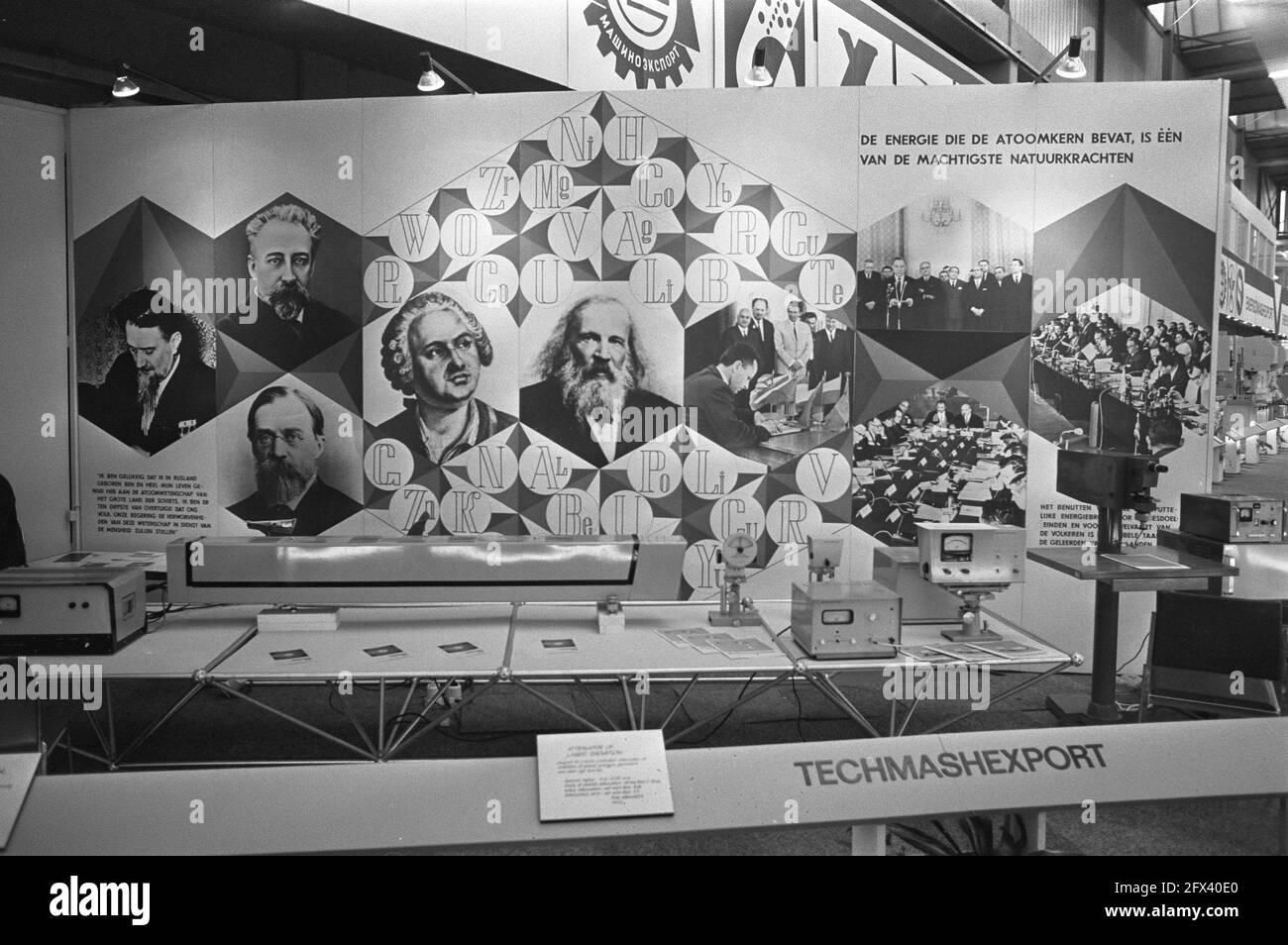Presentación de la tecnología (atómica) rusa, 24 de mayo de 1972, ferias comerciales, economía, Comercio, relaciones internacionales, energía nuclear, retratos, Países Bajos, 20th siglo agencia de prensa foto, noticias para recordar, documental, fotografía histórica 1945-1990, historias visuales, Historia humana del siglo XX, capturando momentos en el tiempo Foto de stock