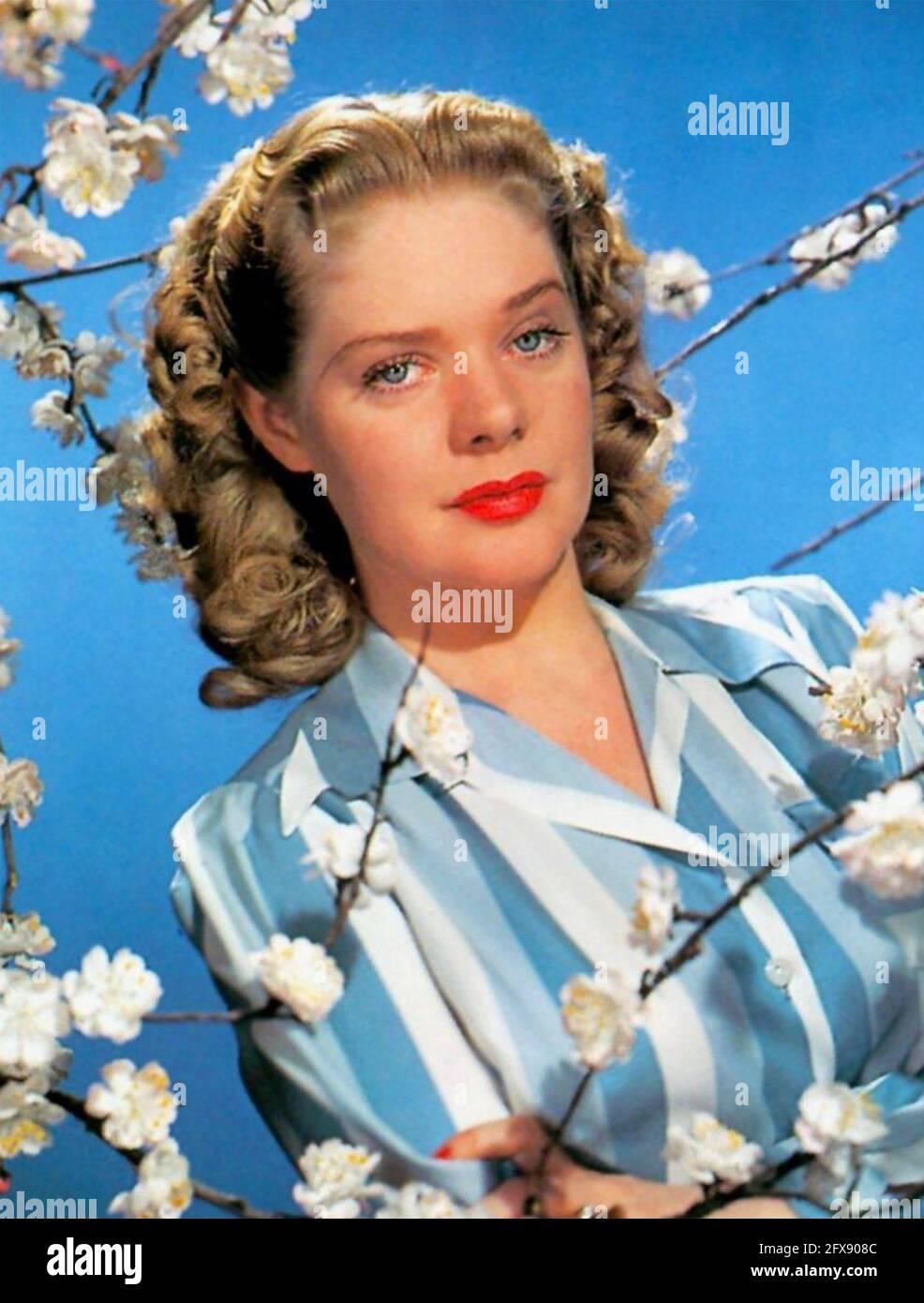 ALICE FAYE (1915-1998) actriz y cantante estadounidense de cine alrededor de 1943 Foto de stock