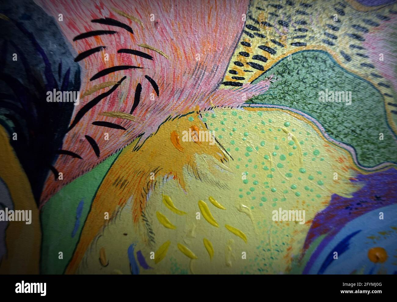 pintura Abstracto Aceite de color Fondo , trazo de pincel Foto de stock