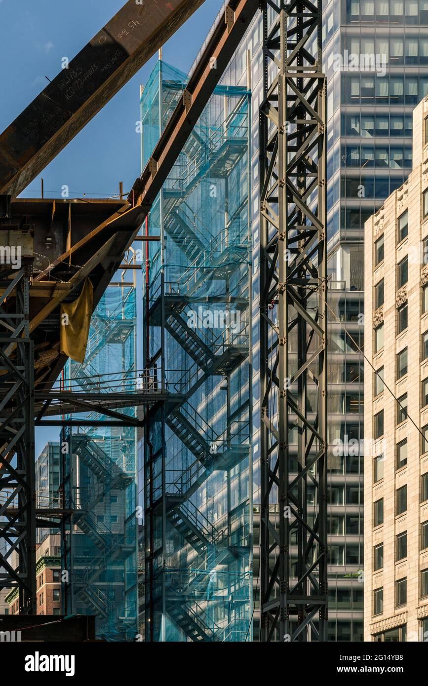 Imágenes de la variación de los edificios realizados por Mary Catherine Messner en la ciudad de Nueva York, Nueva York Foto de stock