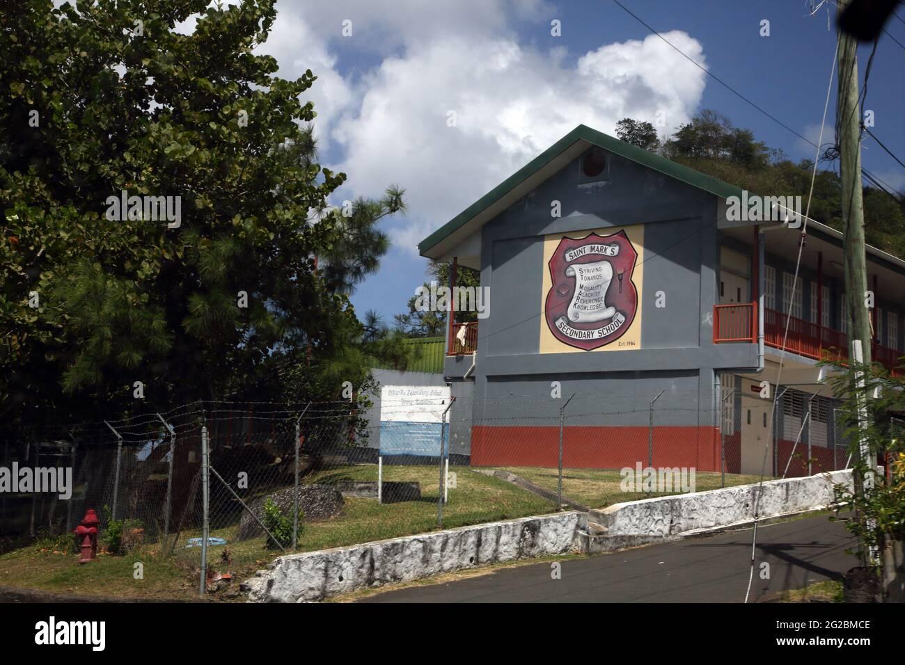 Waltham St Mark Granada Escuela Secundaria de San Marcos Foto de stock