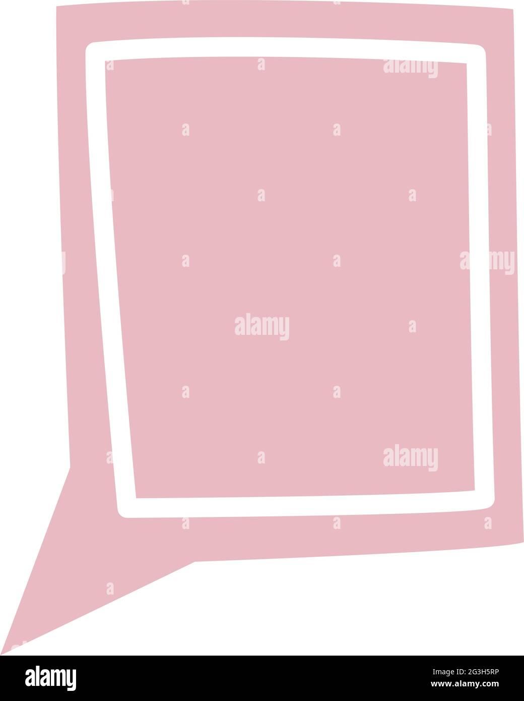 diseño de globo de texto Ilustración del Vector
