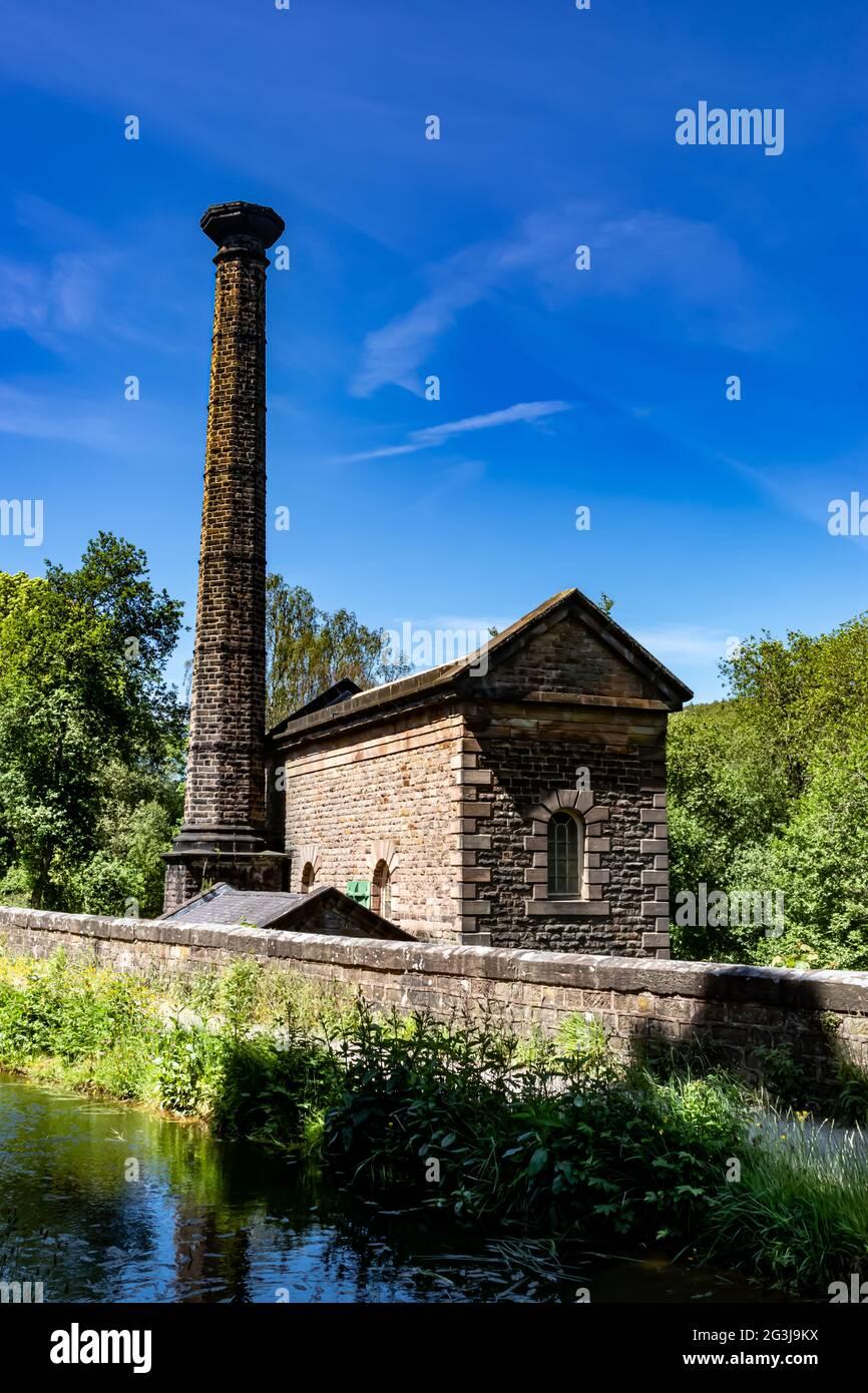 Leawood Pump House, Cromford Canal cerca de High Peak Junction, Matlock, Derbyshire.England Foto de stock