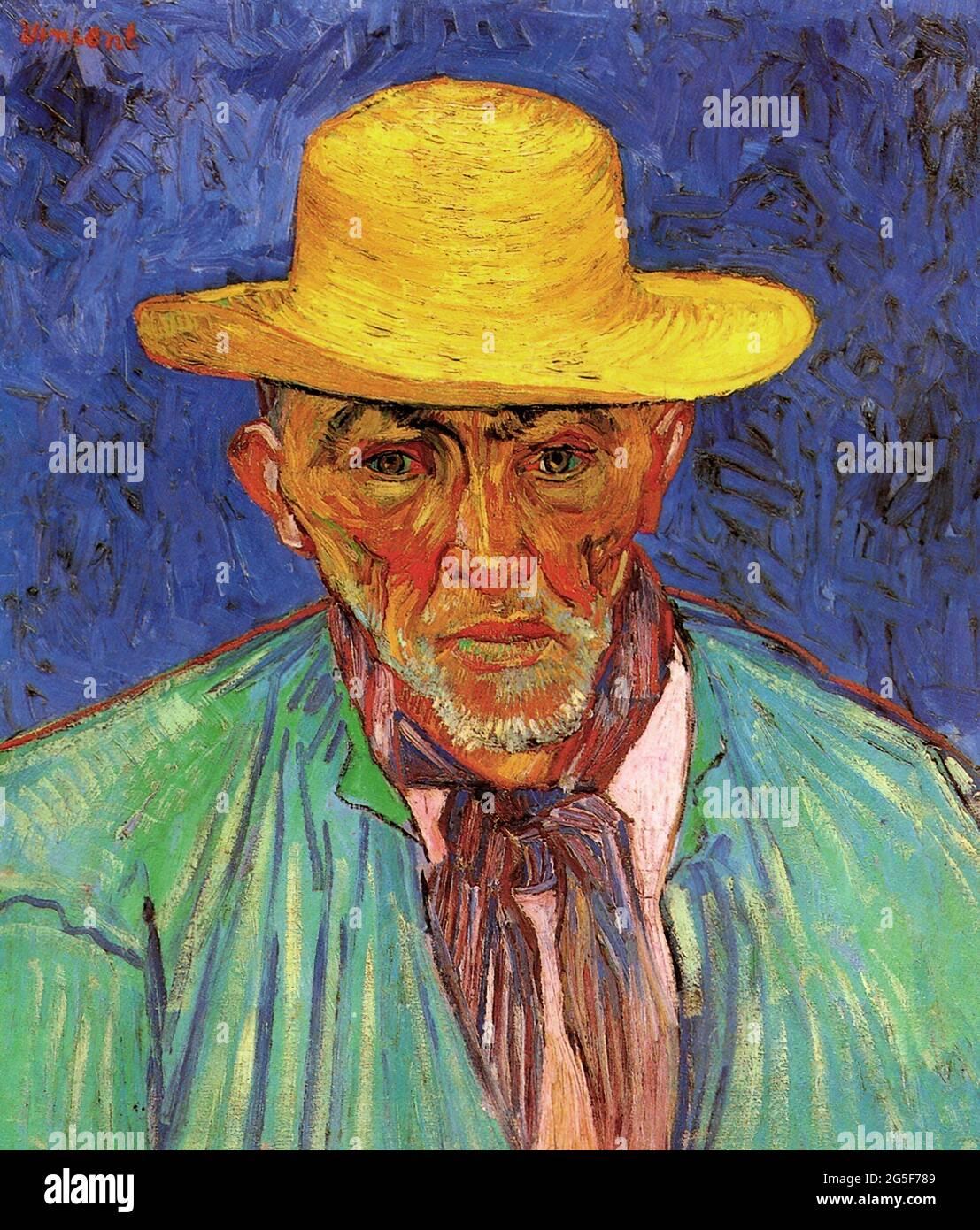 Vincent Van Gogh - Portrait Patience Escalier Shepherd Provence 1888 Foto de stock