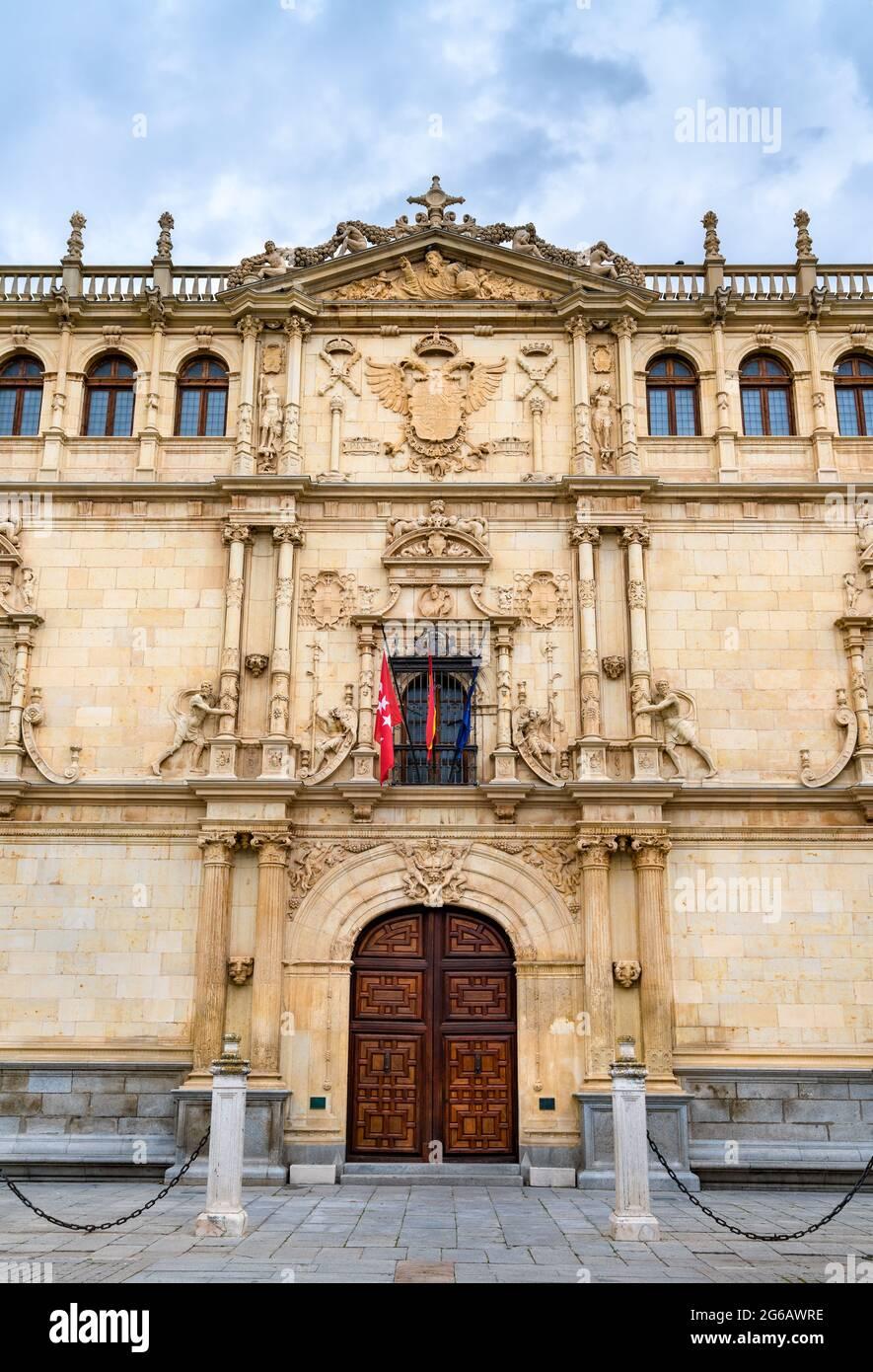 Colegio Mayor de San Ildefonso en Alcalá de Henares, España Foto de stock