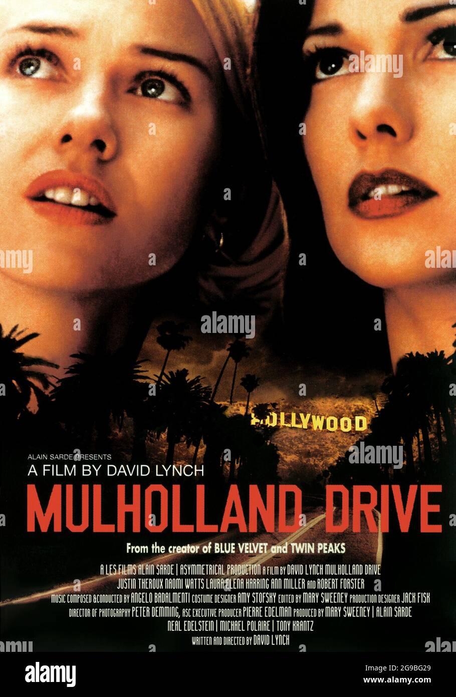 MULHOLLAND DRIVE (2001) -Título original: MULHOLLAND DR.-, dirigido por DAVID LYNCH. CRÉDITO: LA FÁBRICA DE IMÁGENES PRODUCCIONES ASIMÉTRICAS/IMAGINE TELEVIS / ÁLBUM Foto de stock