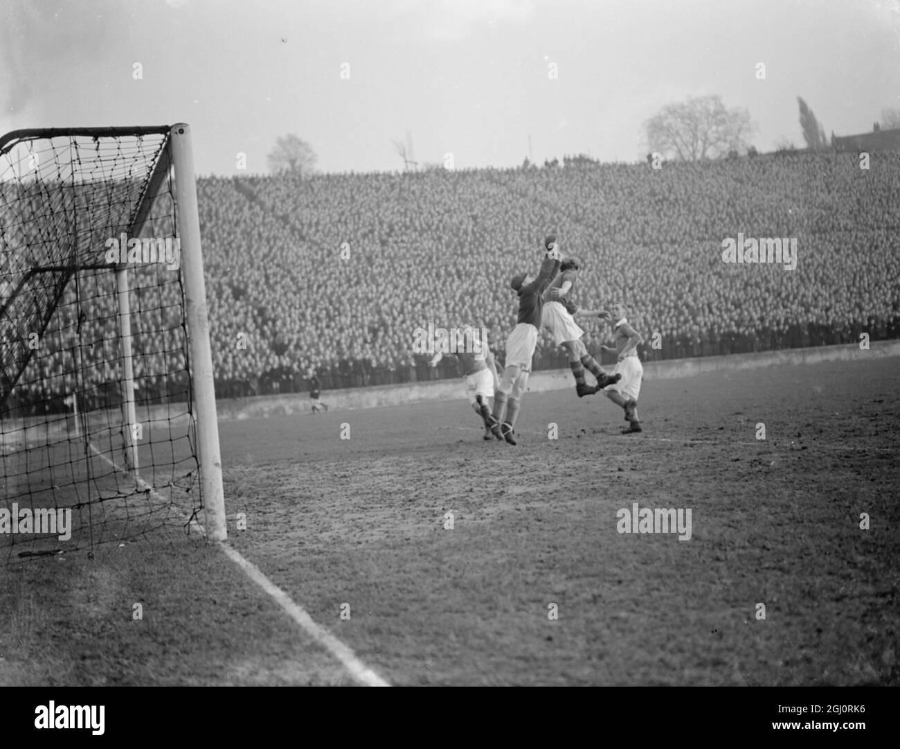 Fútbol 1953 Foto de stock