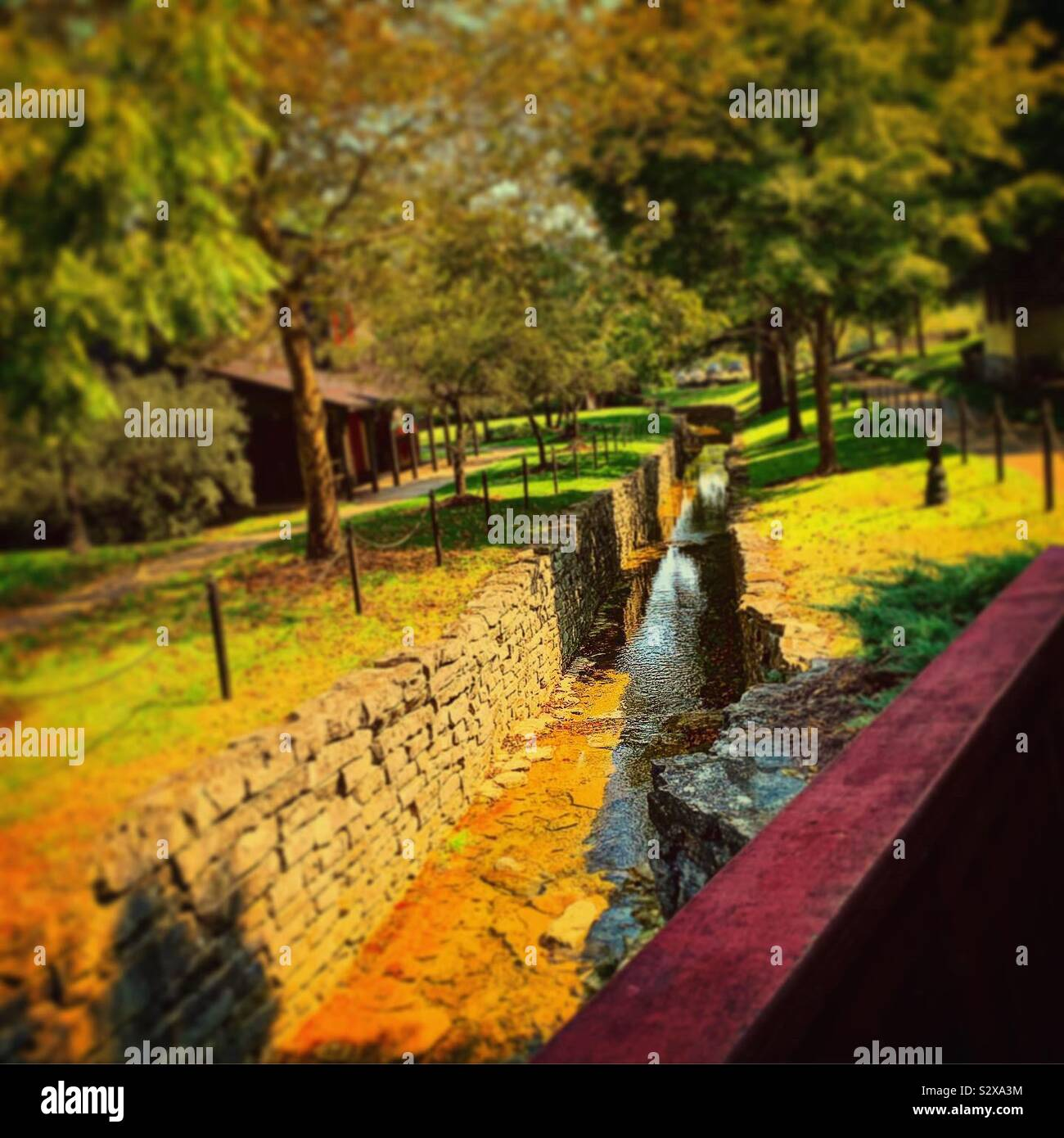 Makers mark distillery water flow it's a beautiful scenery of the property Foto de stock