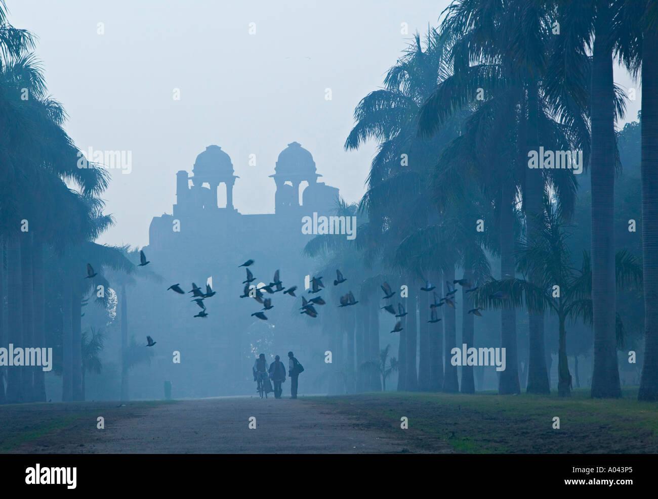 Purana Qila (antigua fortaleza construida por Sher Shar 1545), Nueva Delhi, India Imagen De Stock