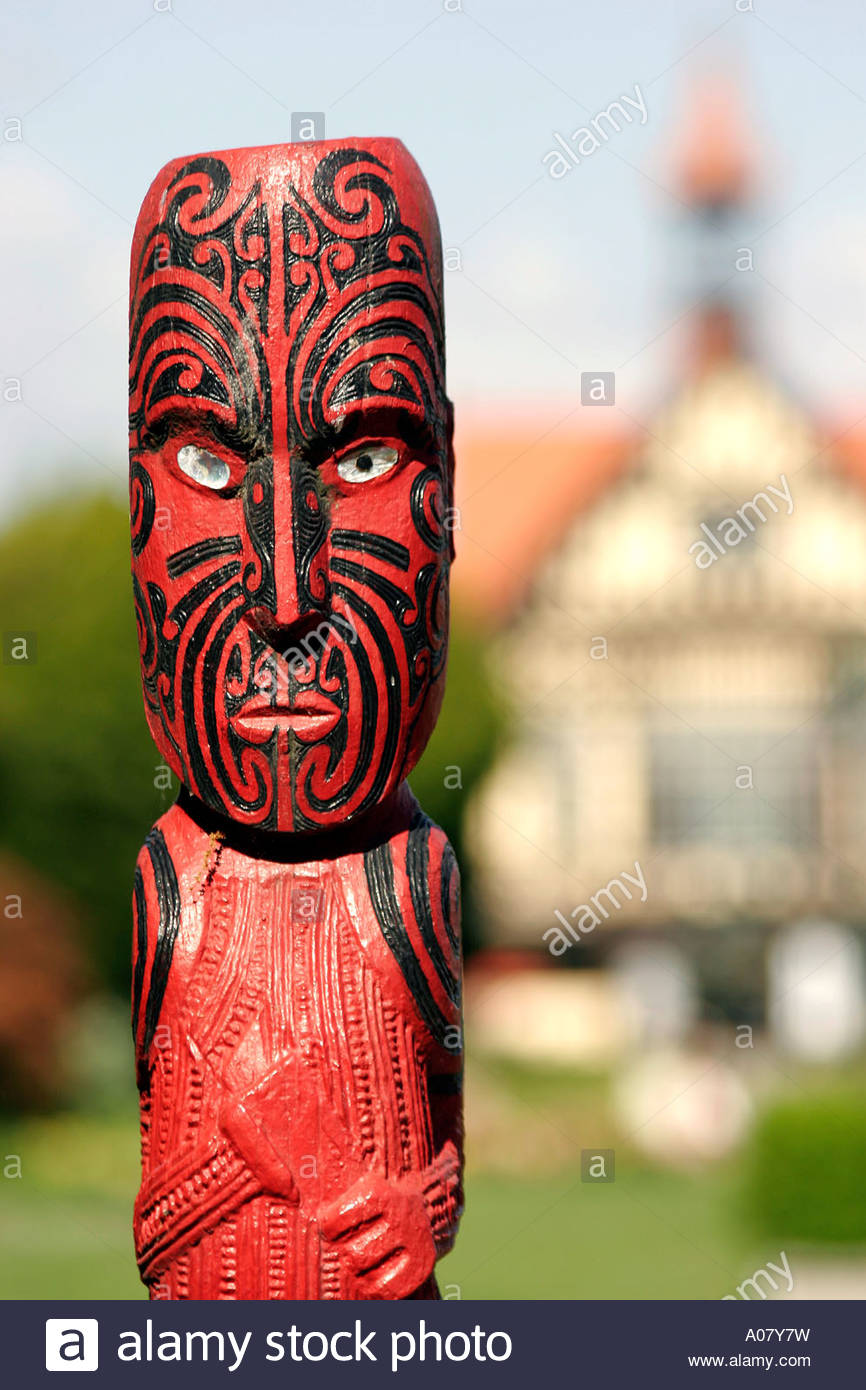 Rotorua, Museo de Arte e Historia. Imagen De Stock