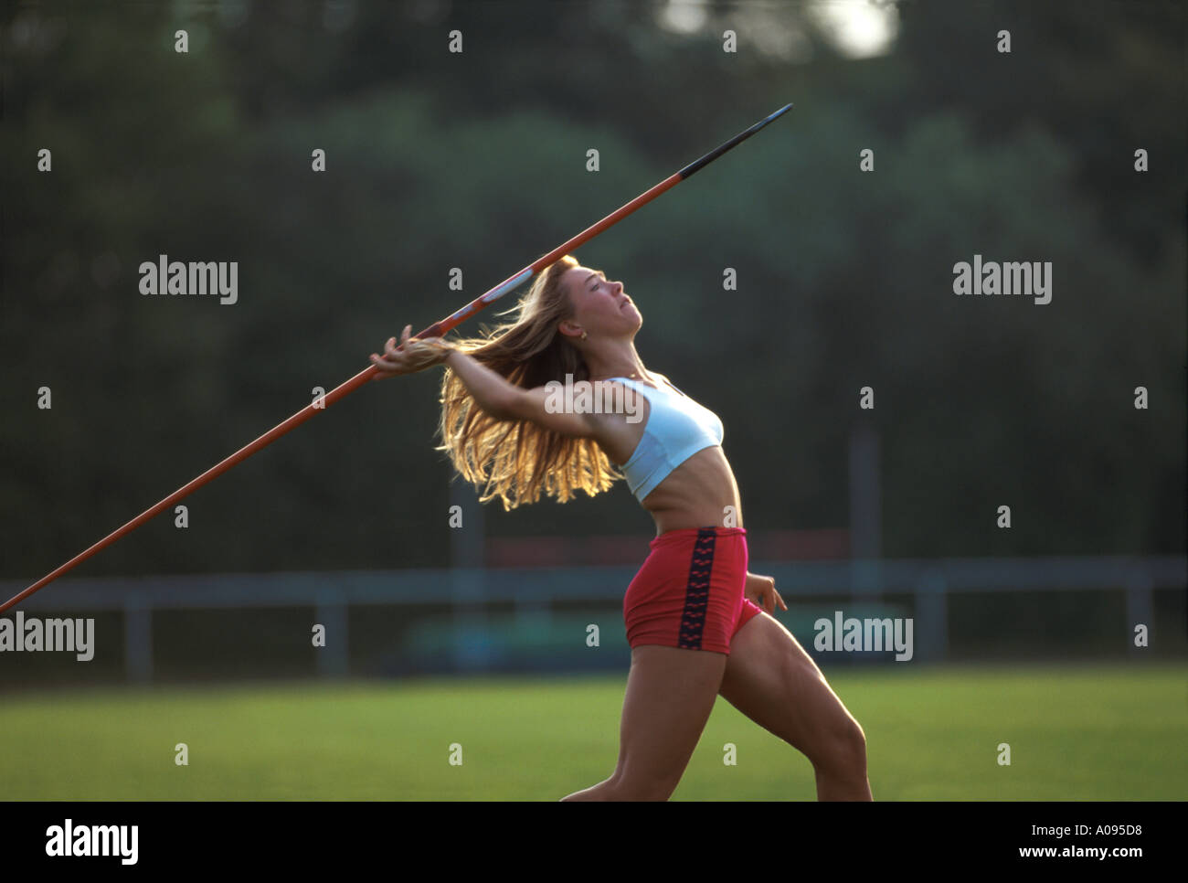 Woman With Spear Imágenes De Stock   Woman With Spear Fotos De Stock ... f0cdba402a1