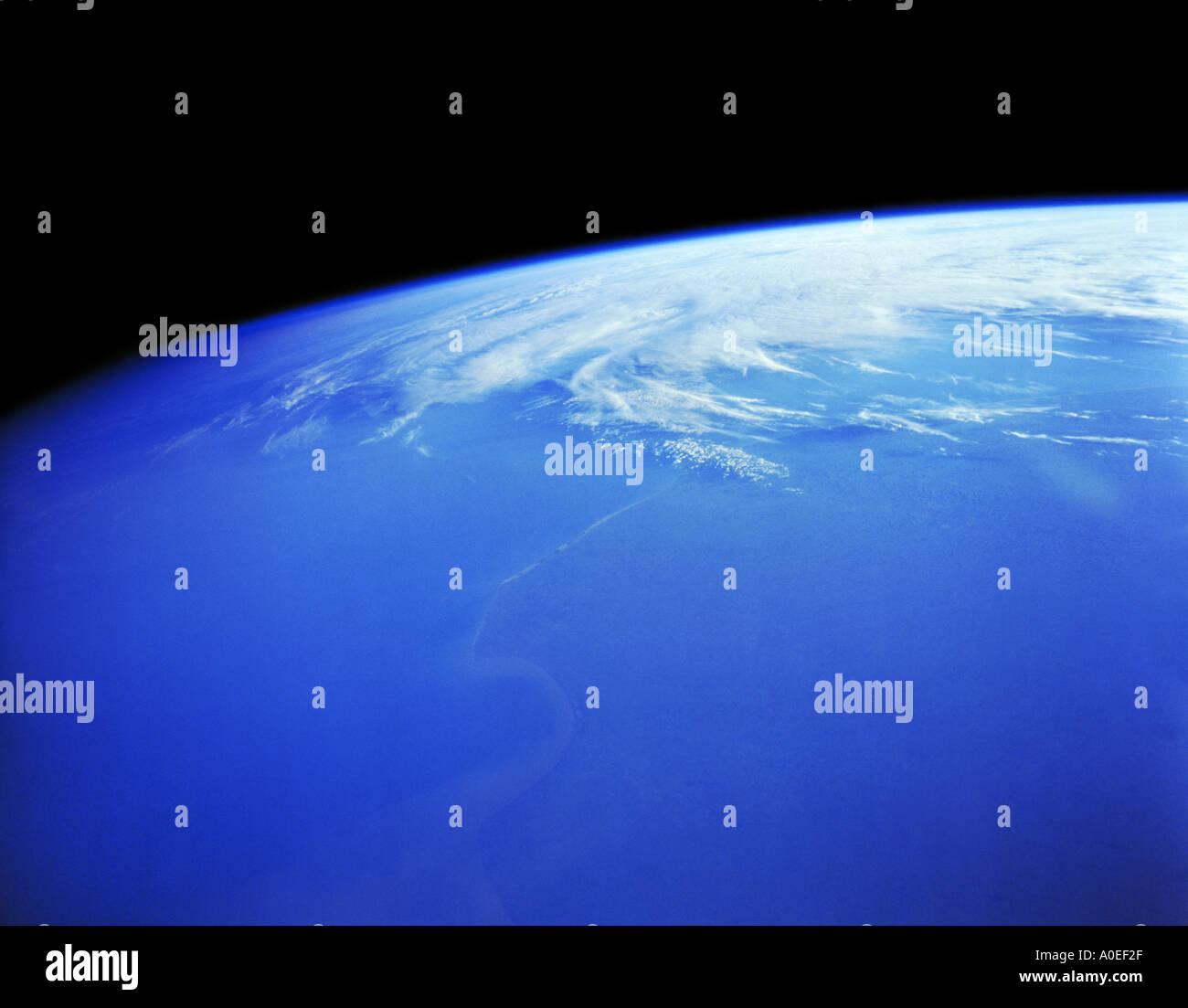 La tierra desde el espacio Foto de stock
