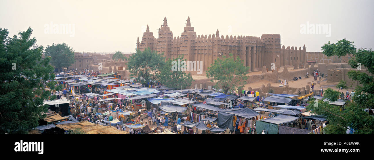 Mezquita de Djenne Djenne delta de Níger región de Mopti, Malí Foto de stock
